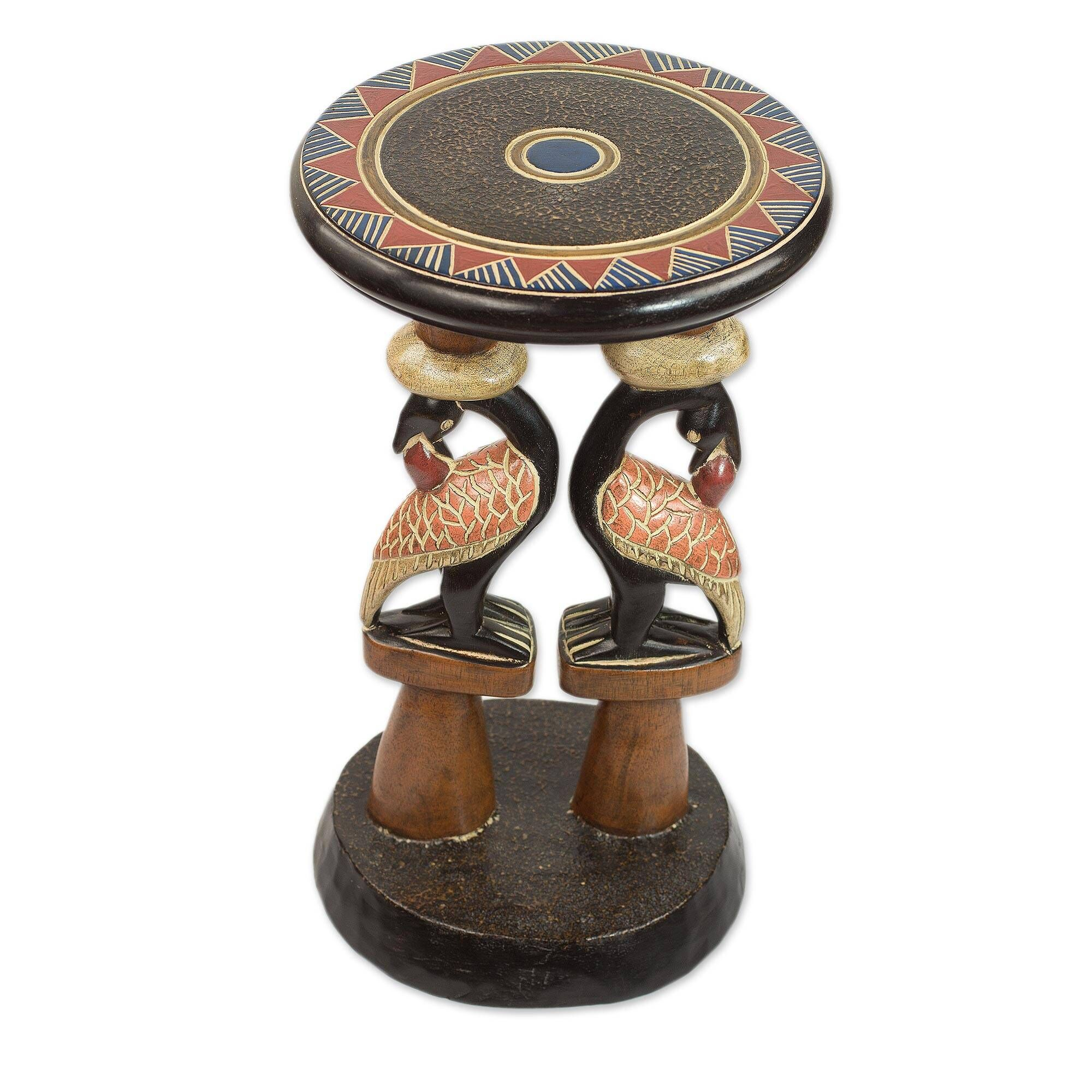 Mccloskey Sankofa Duo Wood End Table