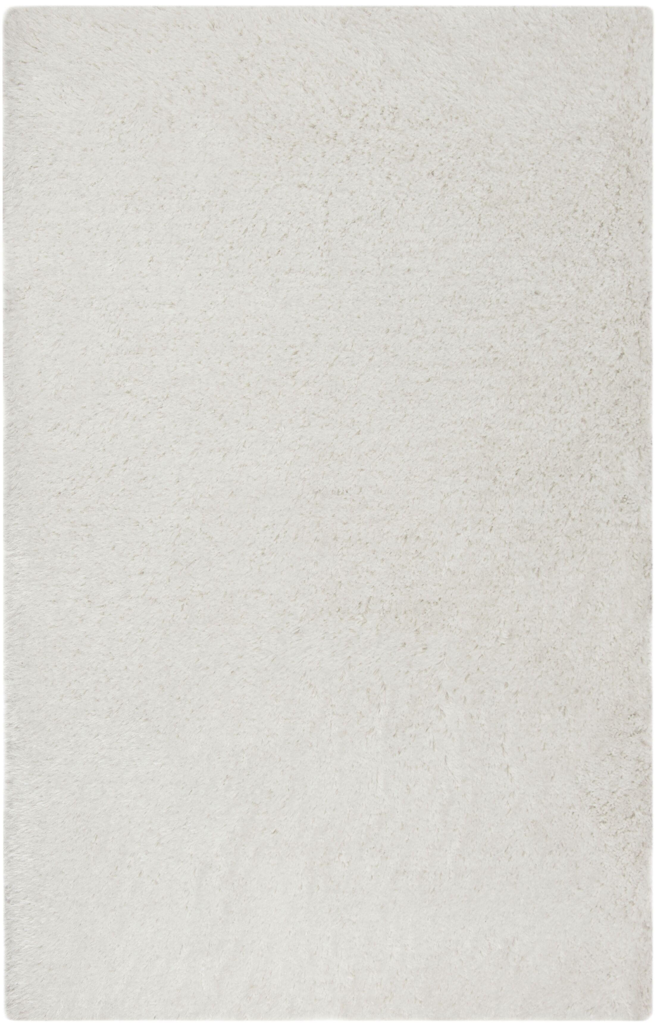 Loyola Shag Hand-Tufted Ivory Area Rug Rug Size: Rectagnle 5' x 8'