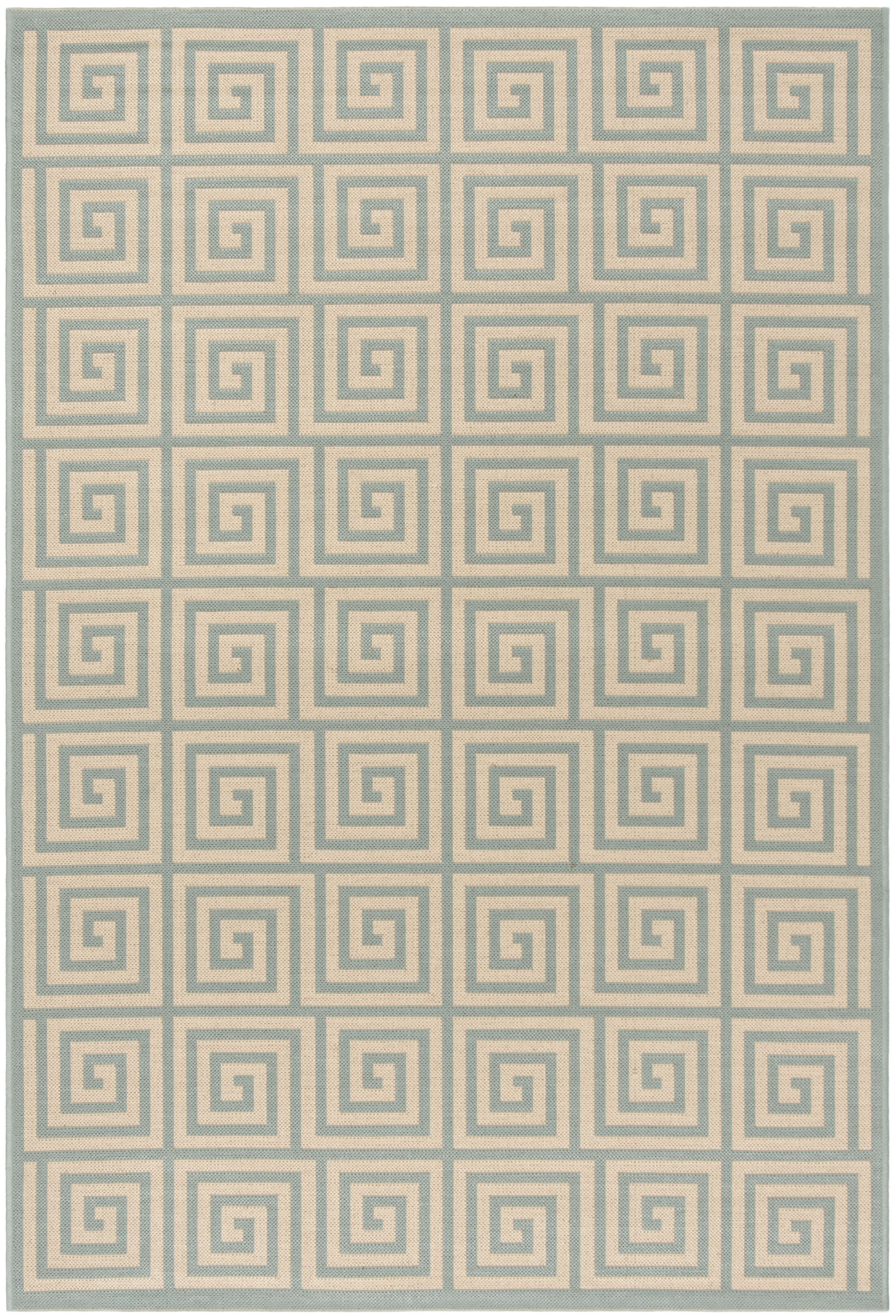 Kallias Cream/Aqua Area Rug Rug Size: Rectangle 9' x 12'