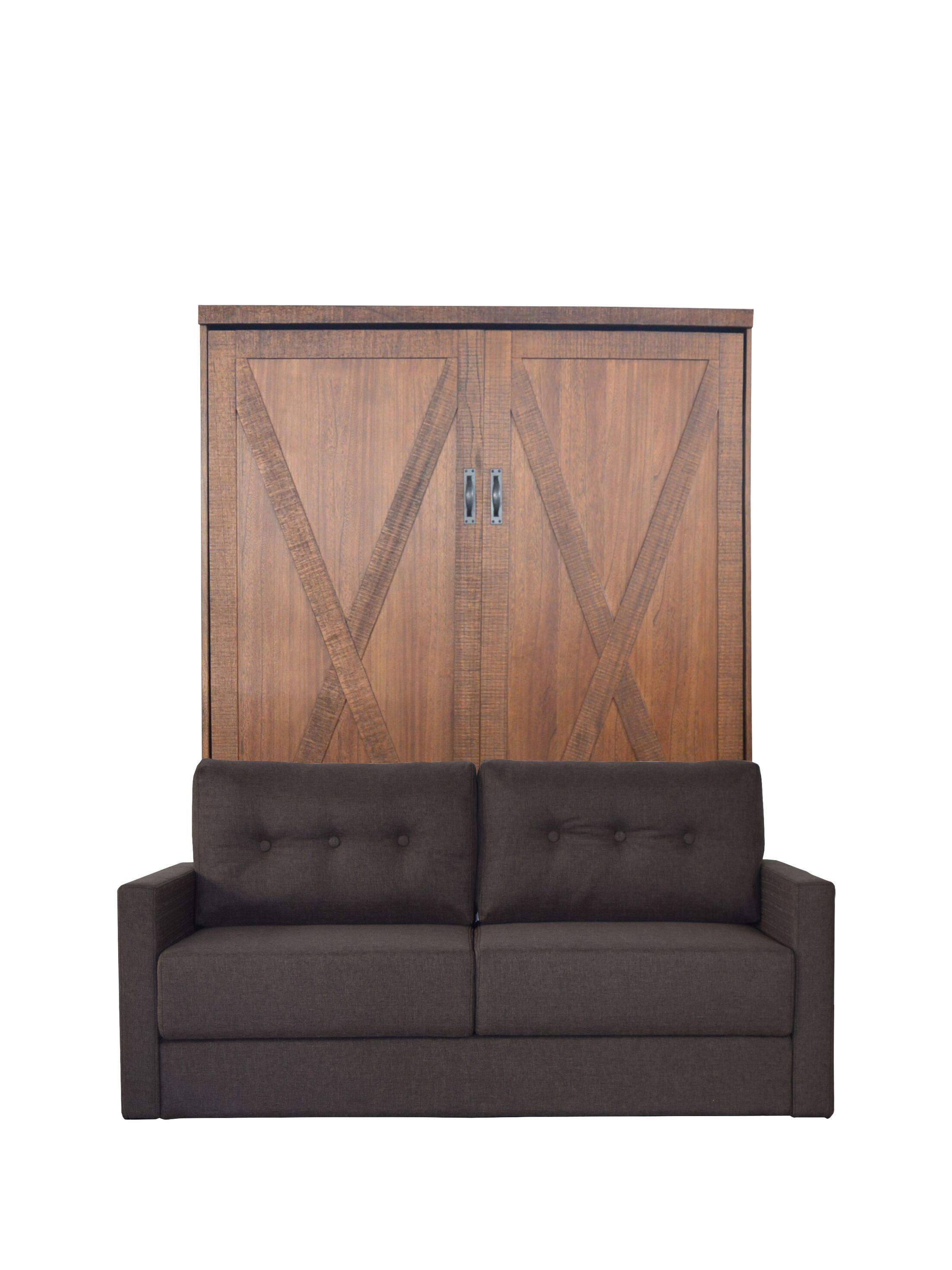 Lafountain Queen Upholstered Murphy Bed Color: Millwork Brown