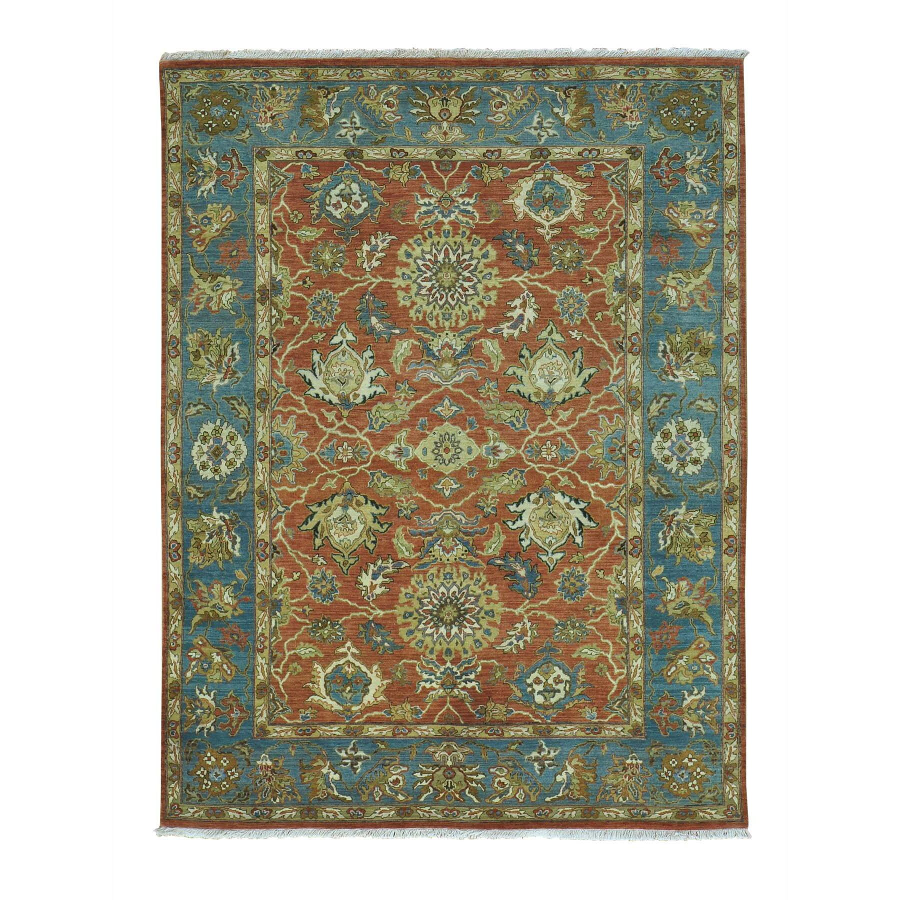 One-of-a-Kind Sultanabad Hand-Knotted Red Area Rug Rug Size: Rectangle 4'10