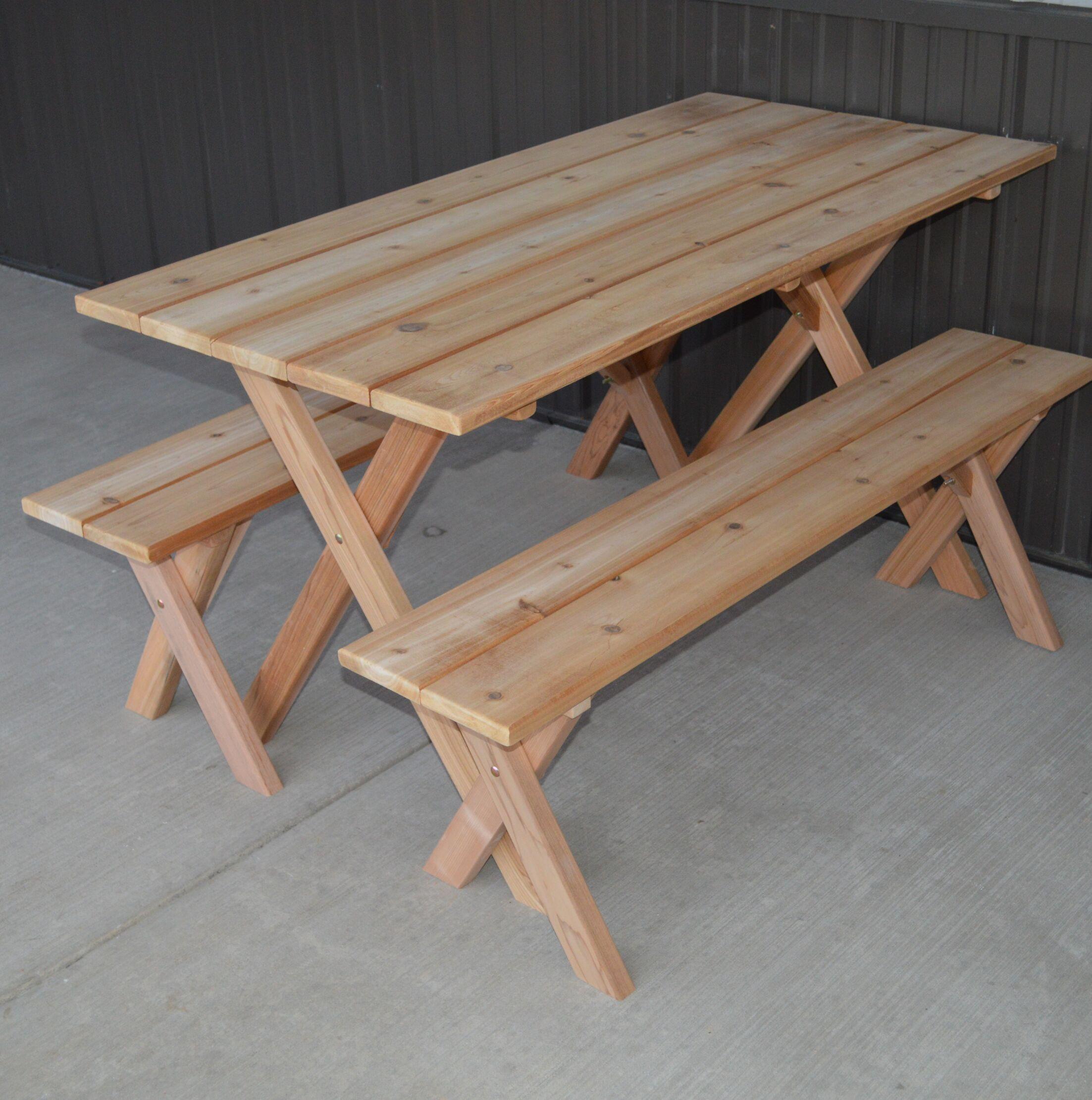 Vindas Cedar Economy Wooden Picnic Table Color: Unfinished