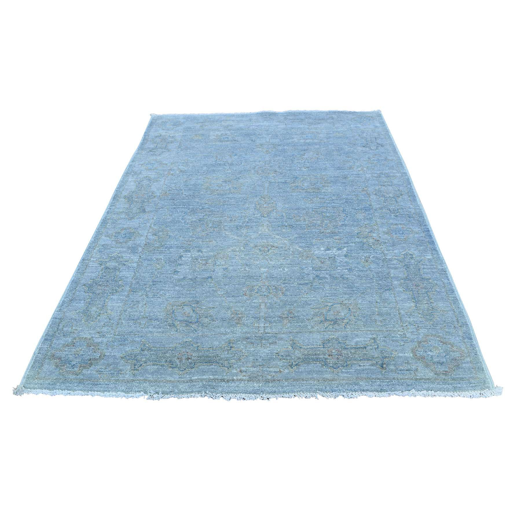 One-of-a-Kind Keeso Hand-Knotted Blue Area Rug