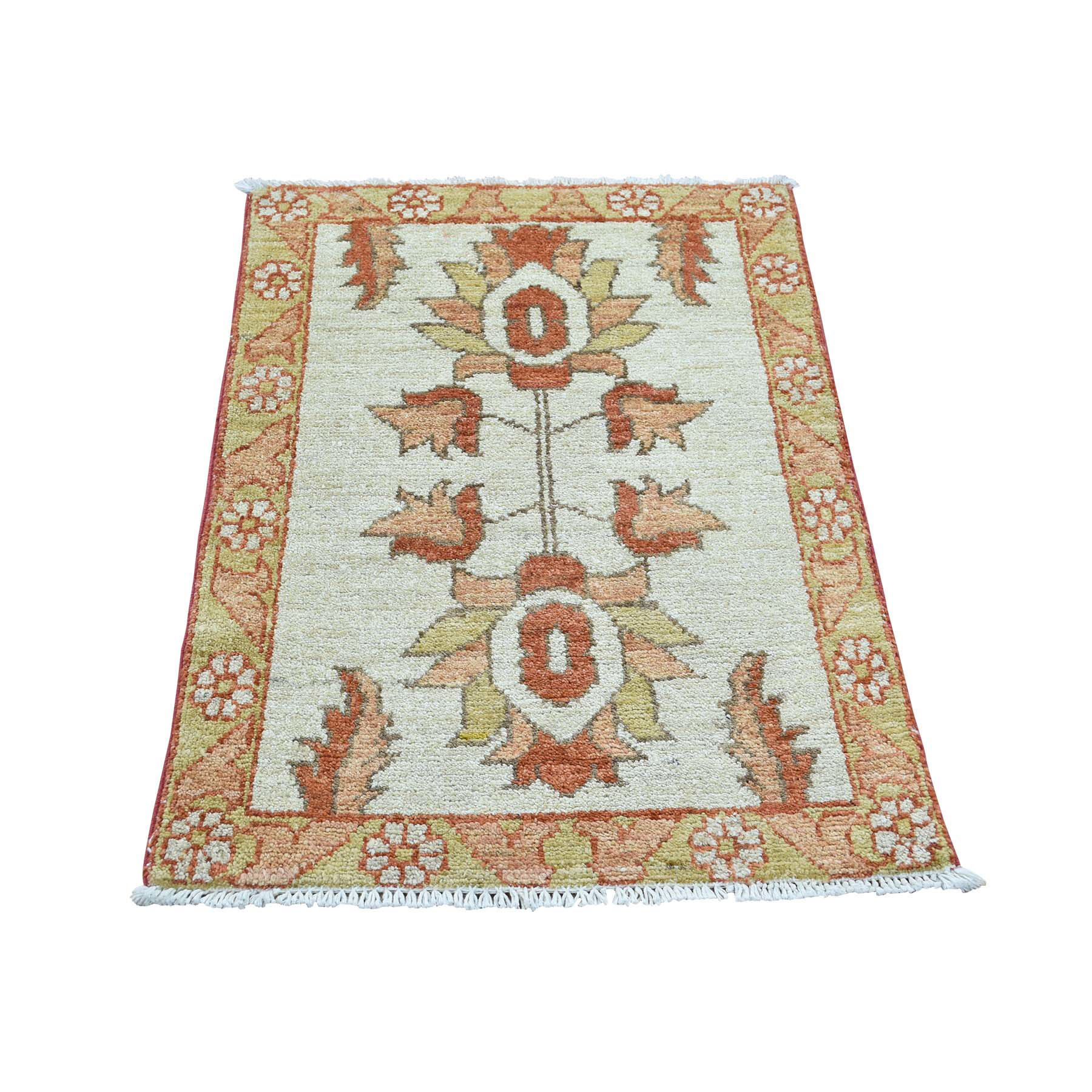 One-of-a-Kind Gowan Hand-Knotted Ivory Area Rug