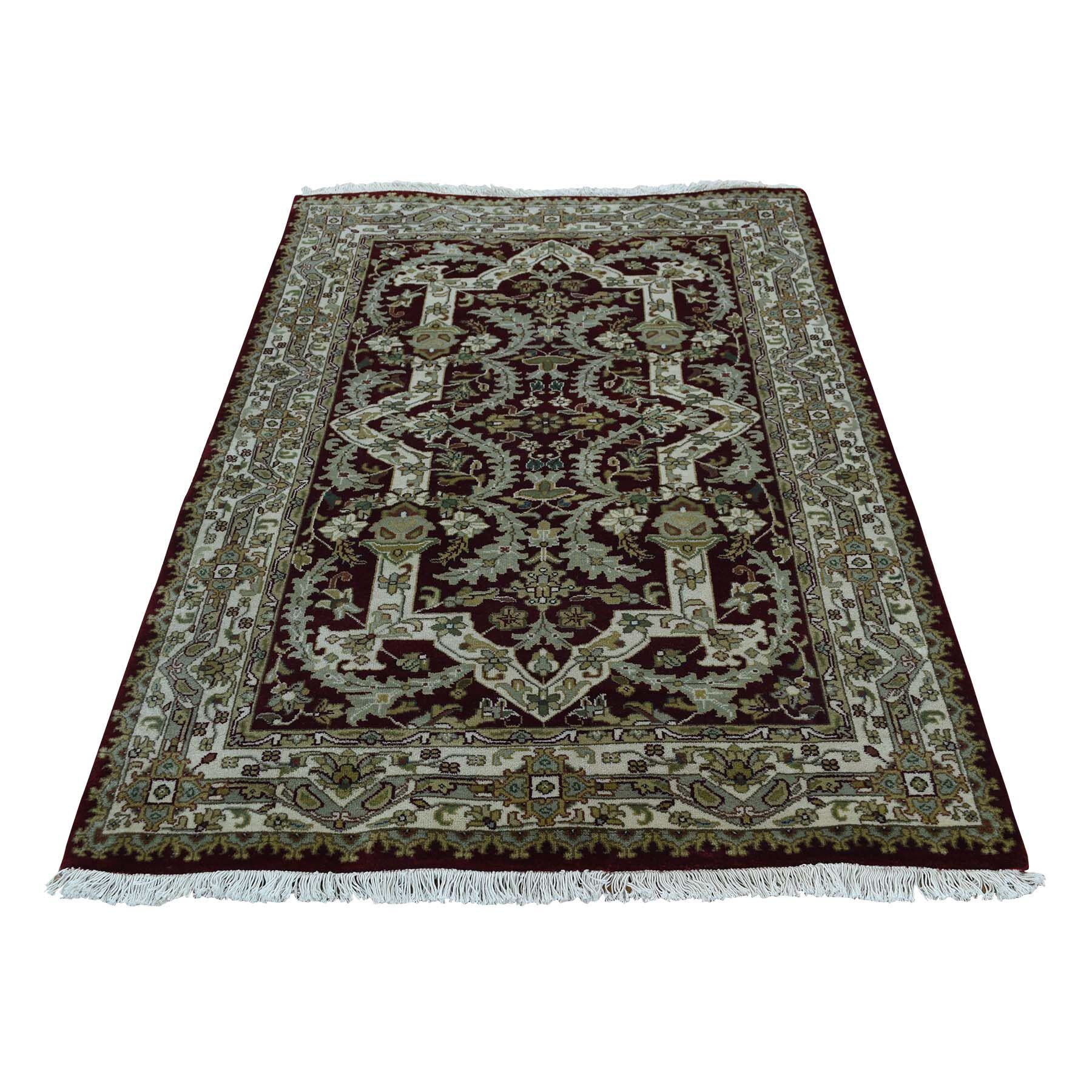 One-of-a-Kind Rudolph New Zealand 300 KPSI Hand-Knotted Blue/Green/Black Area Rug Rug Size: Rectangle 3'1
