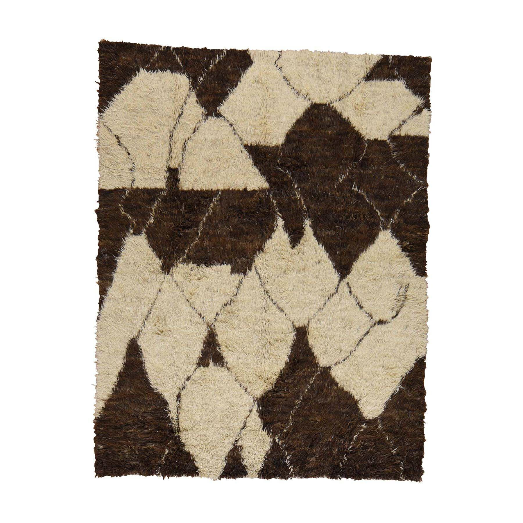 One-of-a-Kind Yasmine Plush Shaggy Hand-Knotted Chocolate Brown Area Rug Rug Size: Rectangle 9' x 12'