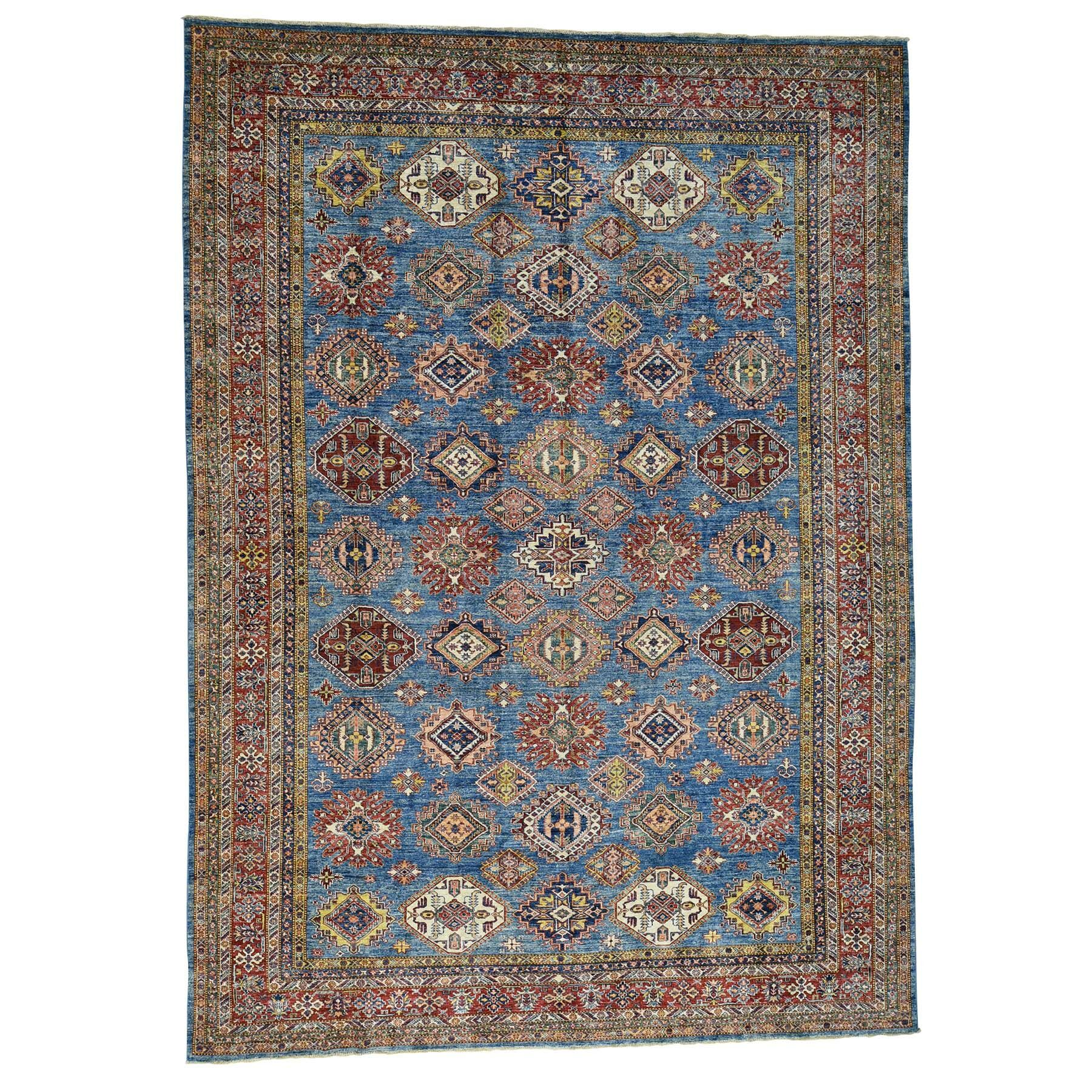 One-of-a-Kind Tilomar Hand-Knotted Navy Blue Area Rug