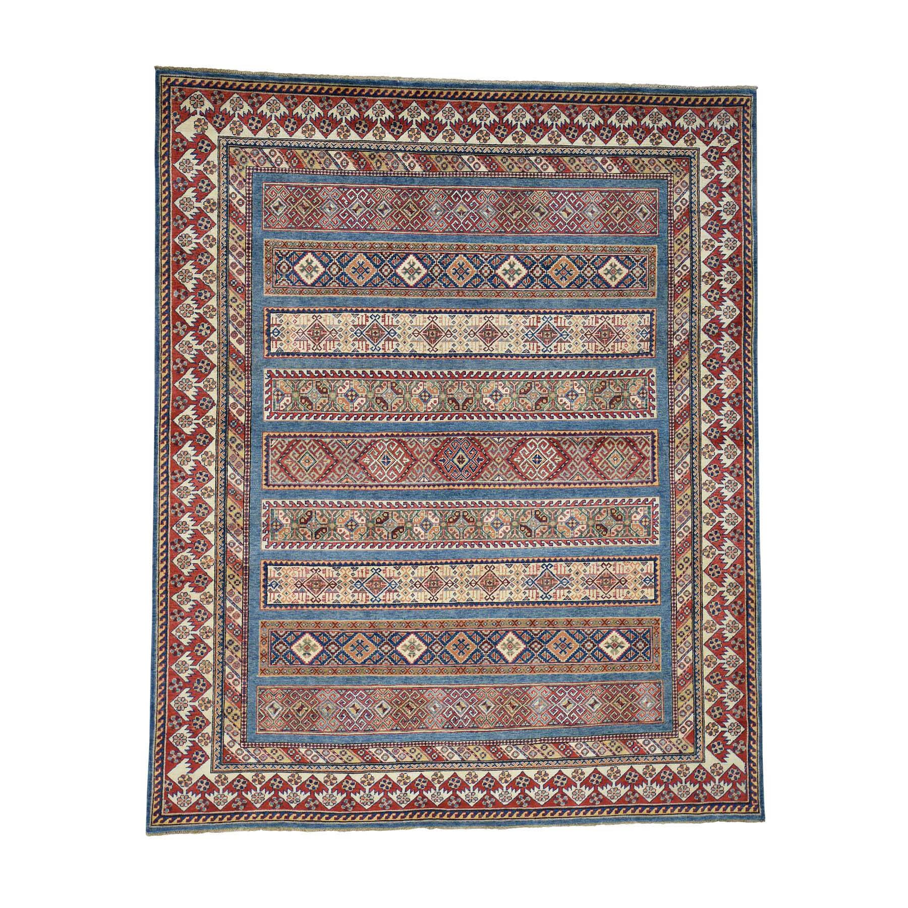 One-of-a-Kind Tillotson Special Khorjin Hand-Knotted Denim Blue/Red Area Rug