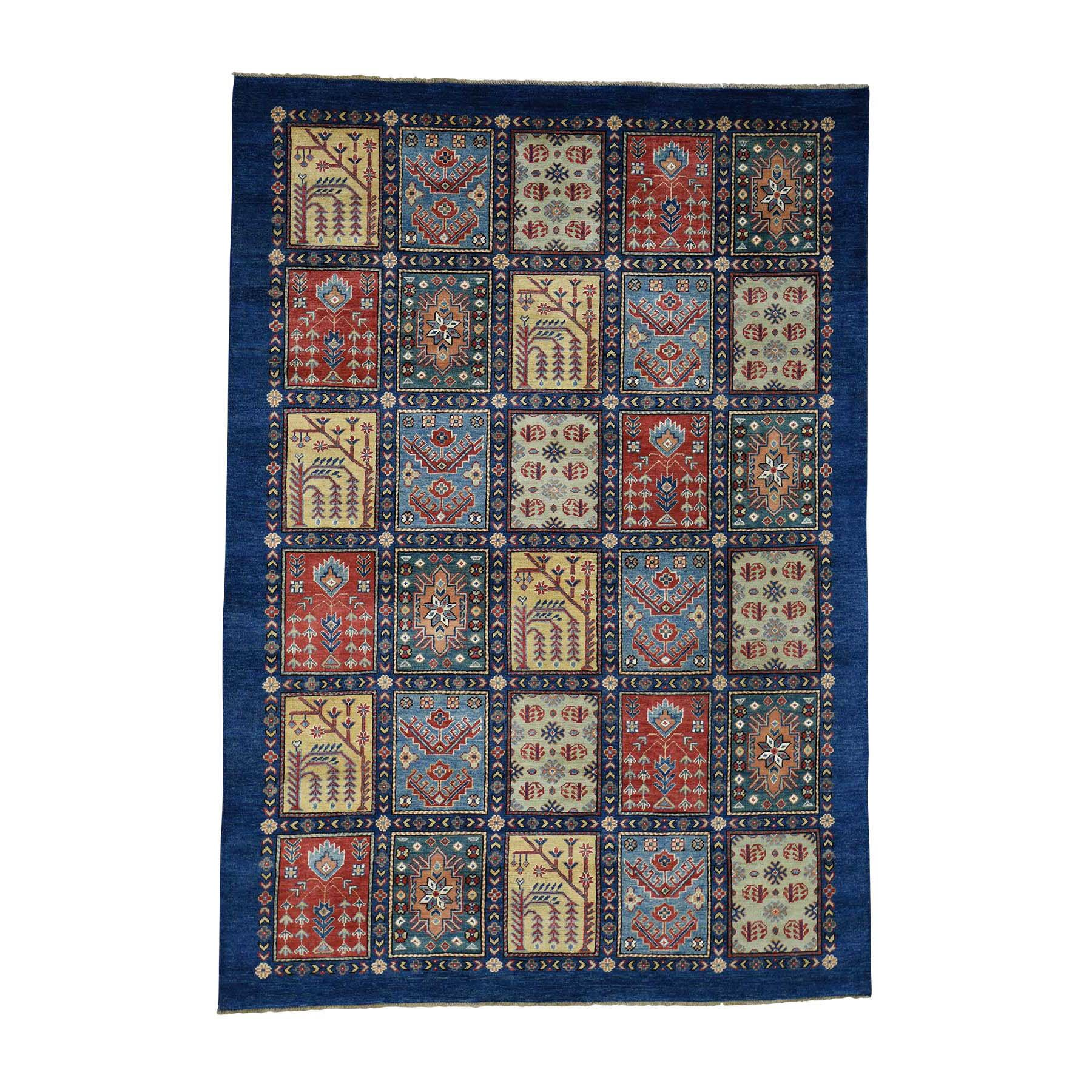 One-of-a-Kind Tillotson Special Hand-Knotted Beige/Blue Area Rug