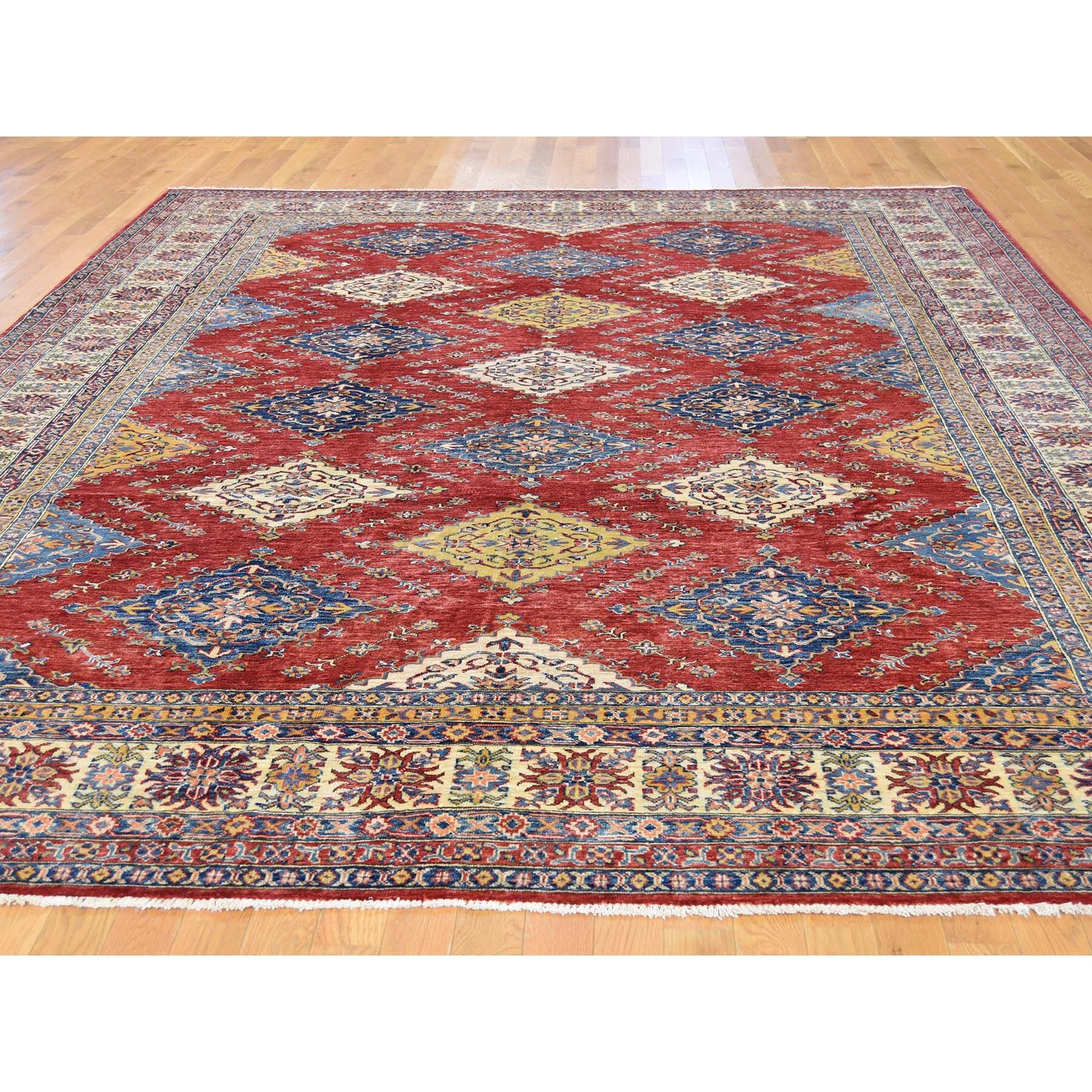 One-of-a-Kind Tillman Super Hand-Knotted Red/Blue Area Rug