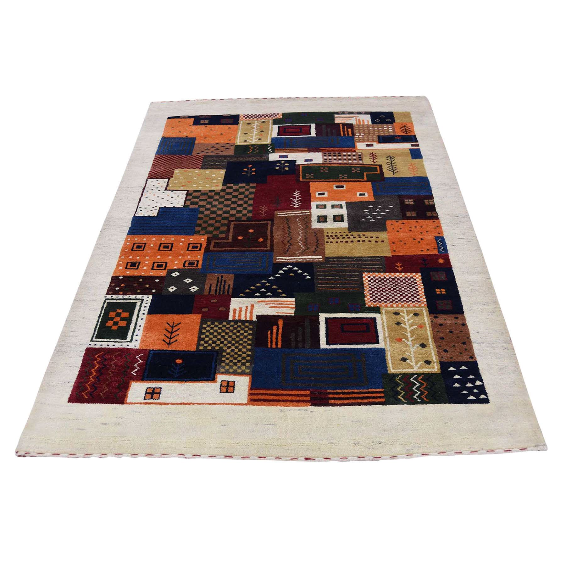 One-of-a-Kind Rothenberg Patchwork Hand-Knotted Black Area Rug
