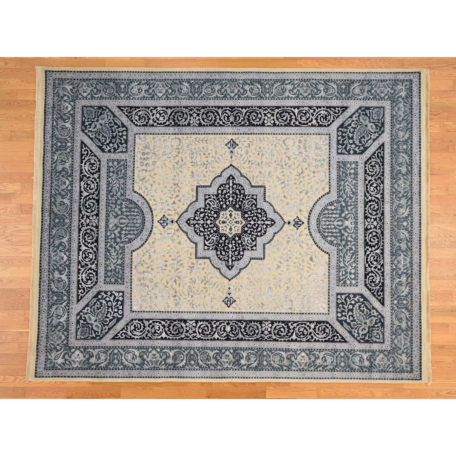 One-of-a-Kind Samons 300 Kpsi Hand-Knotted Beige Area Rug Rug Size: Rectangle 8'1
