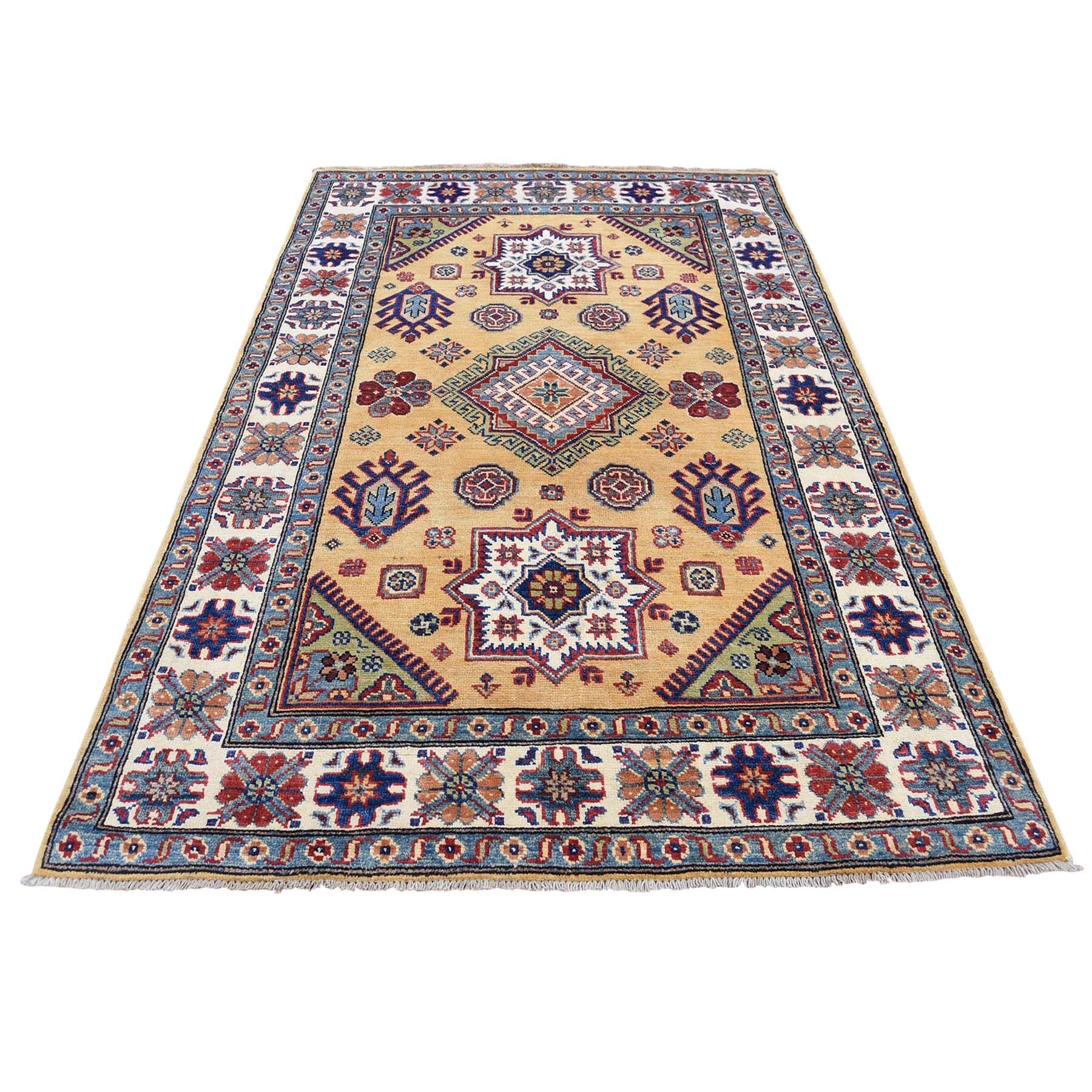 One-of-a-Kind Tillett Special Hand-Knotted Gold Area Rug