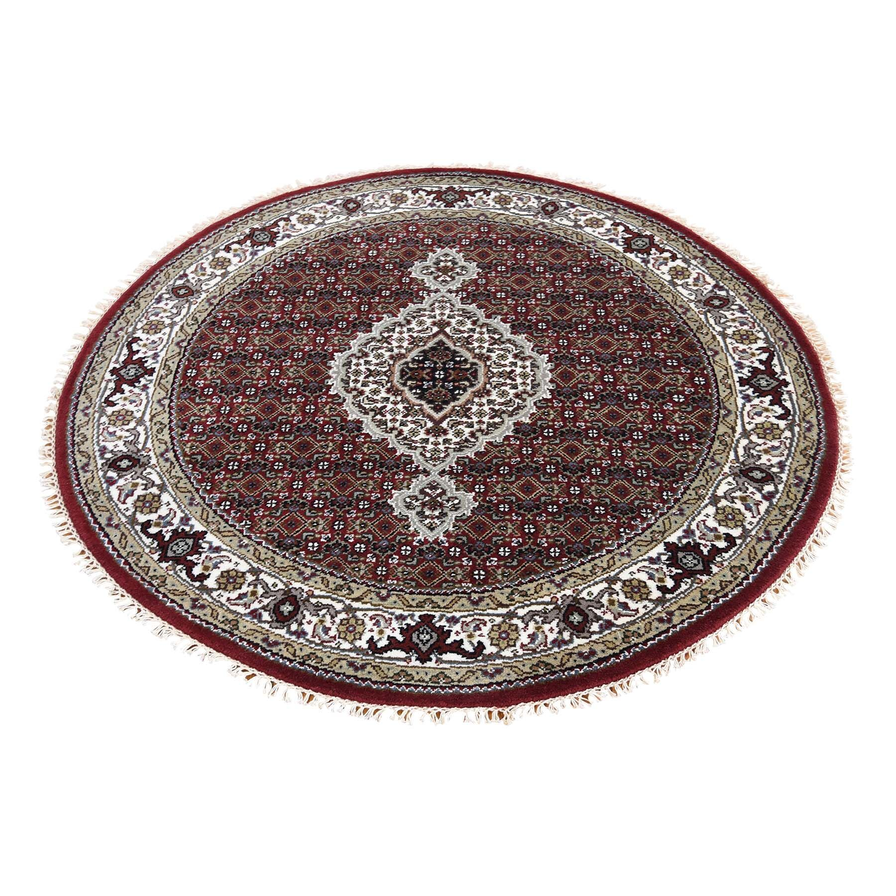 One-of-a-Kind Rudolph 250 Kpsi Mahi Hand-Knotted Tibetan Red Area Rug