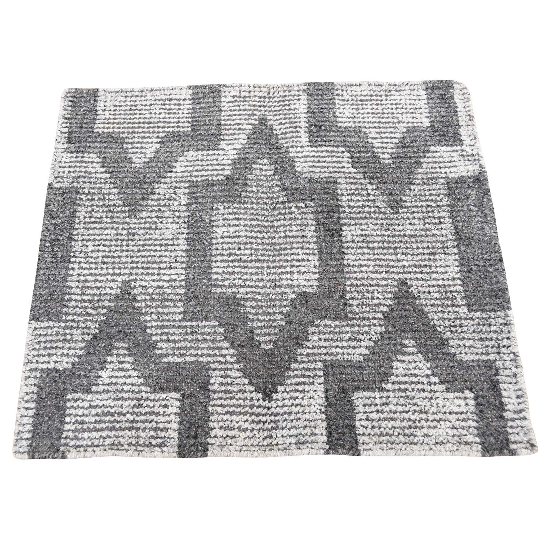 One-of-a-Kind Rorie Sample Hand-Knotted Gray Area Rug
