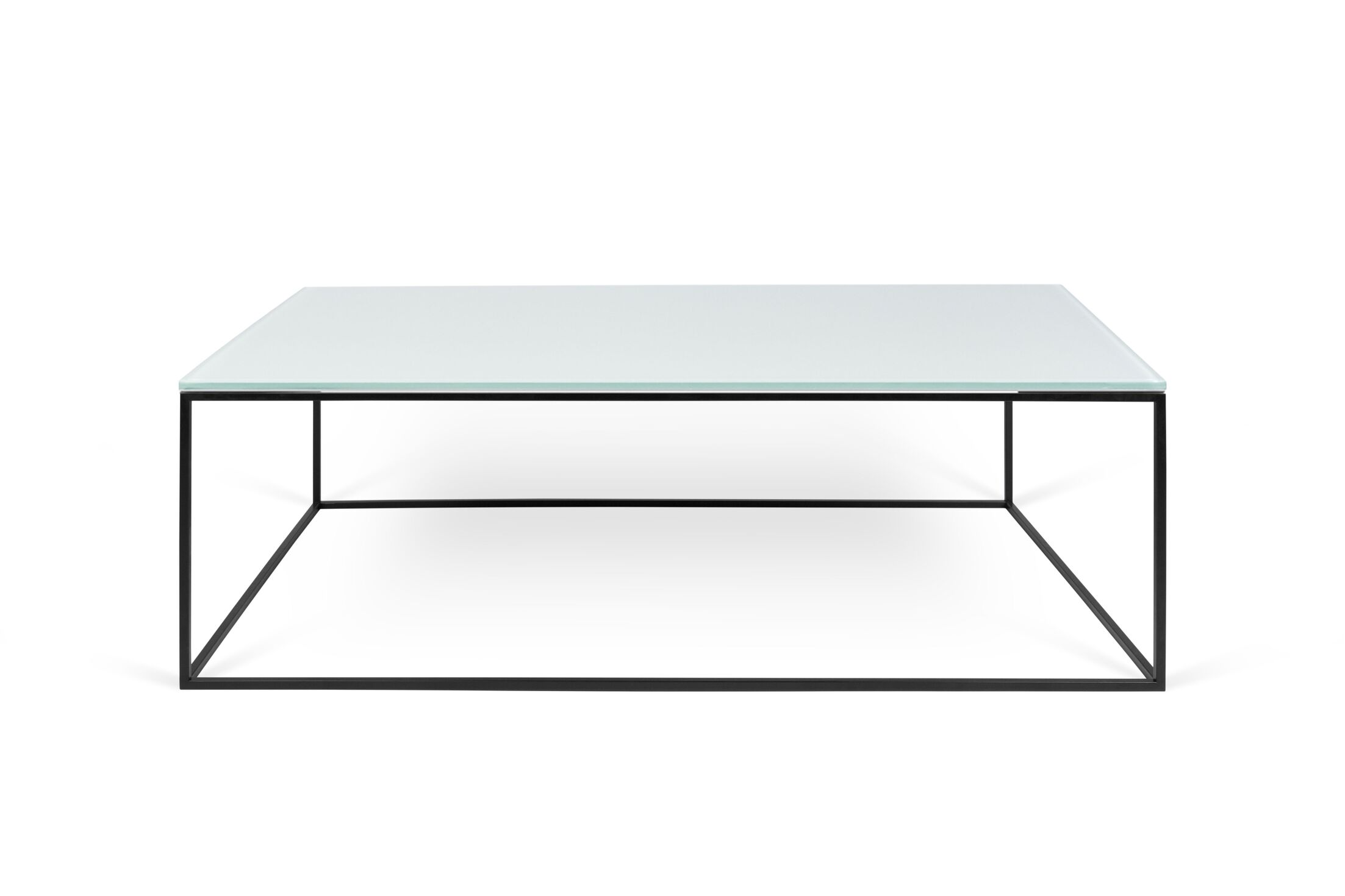 Soltane Glass Coffee Table Table Base Color: Black