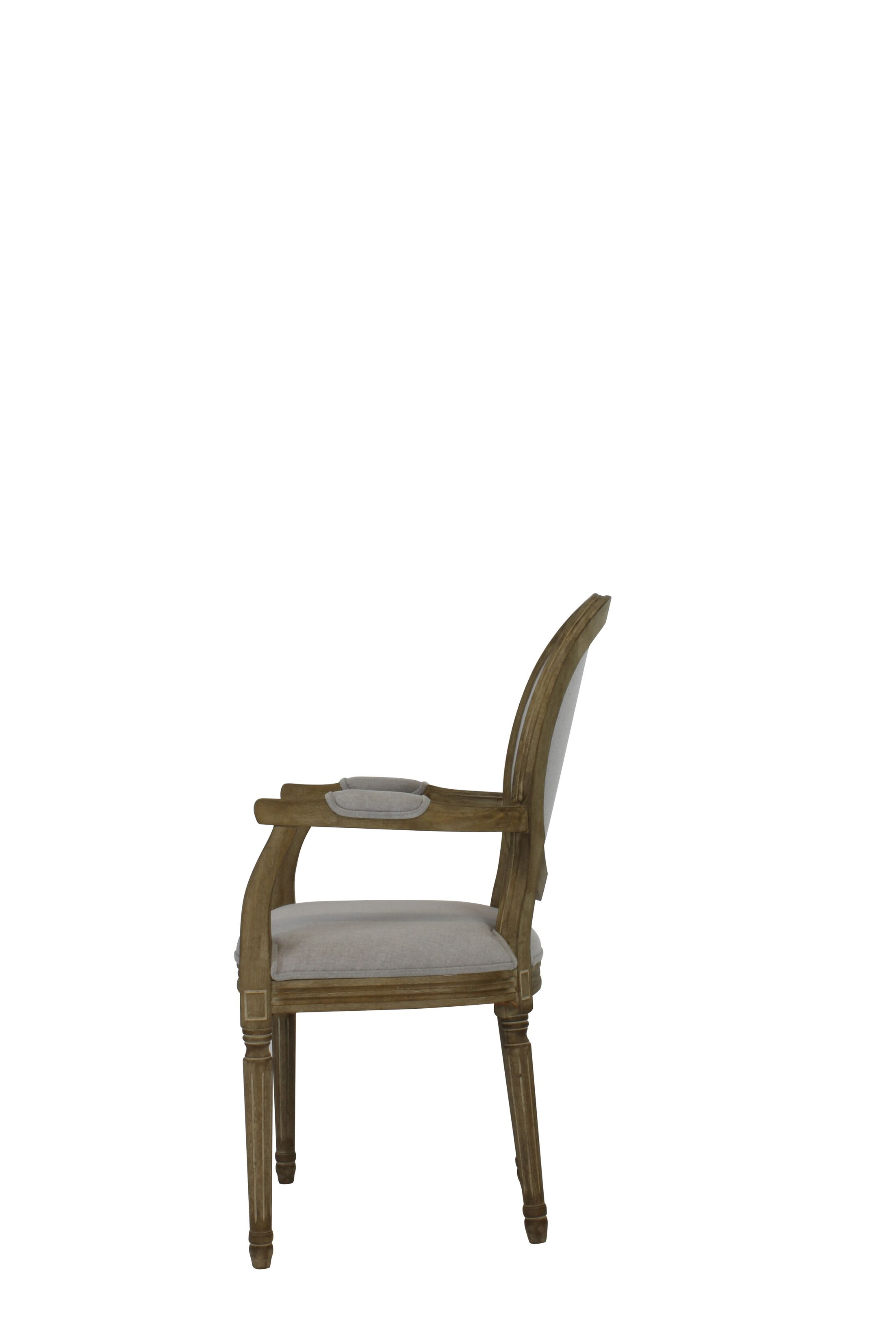 Auclair Weathered Upholstered Dining Chair Upholstery Color: Beige, Finish: Espresso