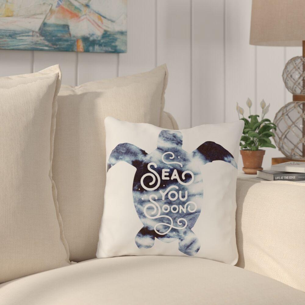 Citium Sea You Soon Outdoor Throw Pillow Size: 16