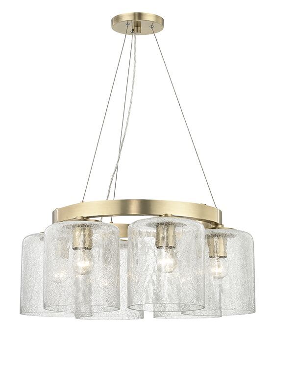 Ector 6-Light Wagon Wheel Chandelier Finish: Aged Brass