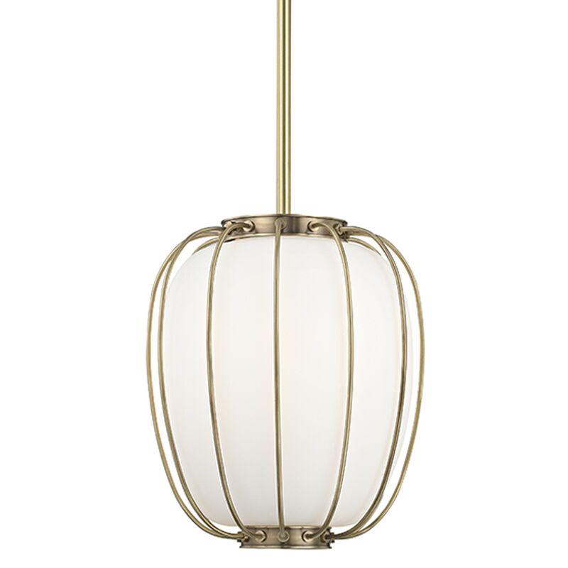 Talmo 1-Light Globe Pendant Finish: Aged Brass, Size: 14.25