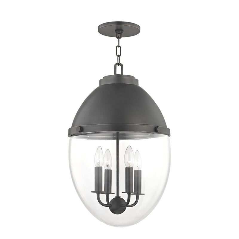 Caster 4-Light Globe Chandelier Finish: Old Bronze