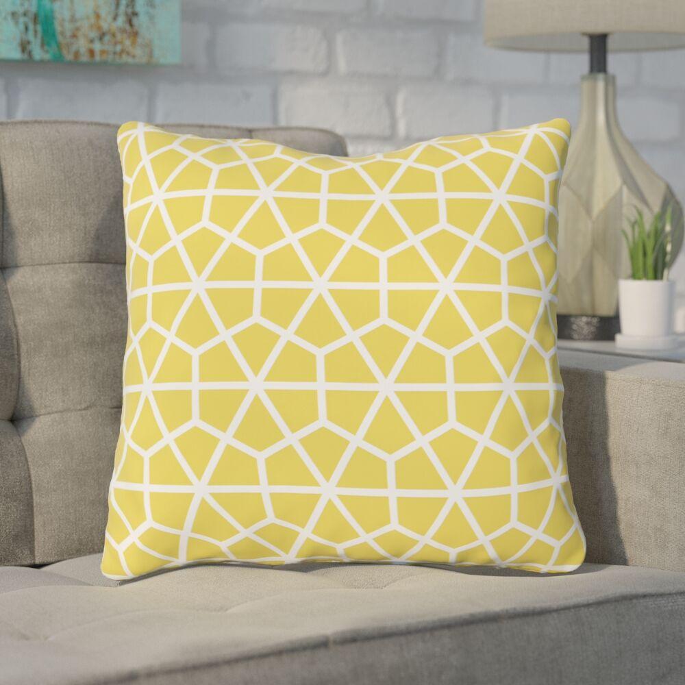 Alcock Outdoor Throw Pillow Color: Lemon