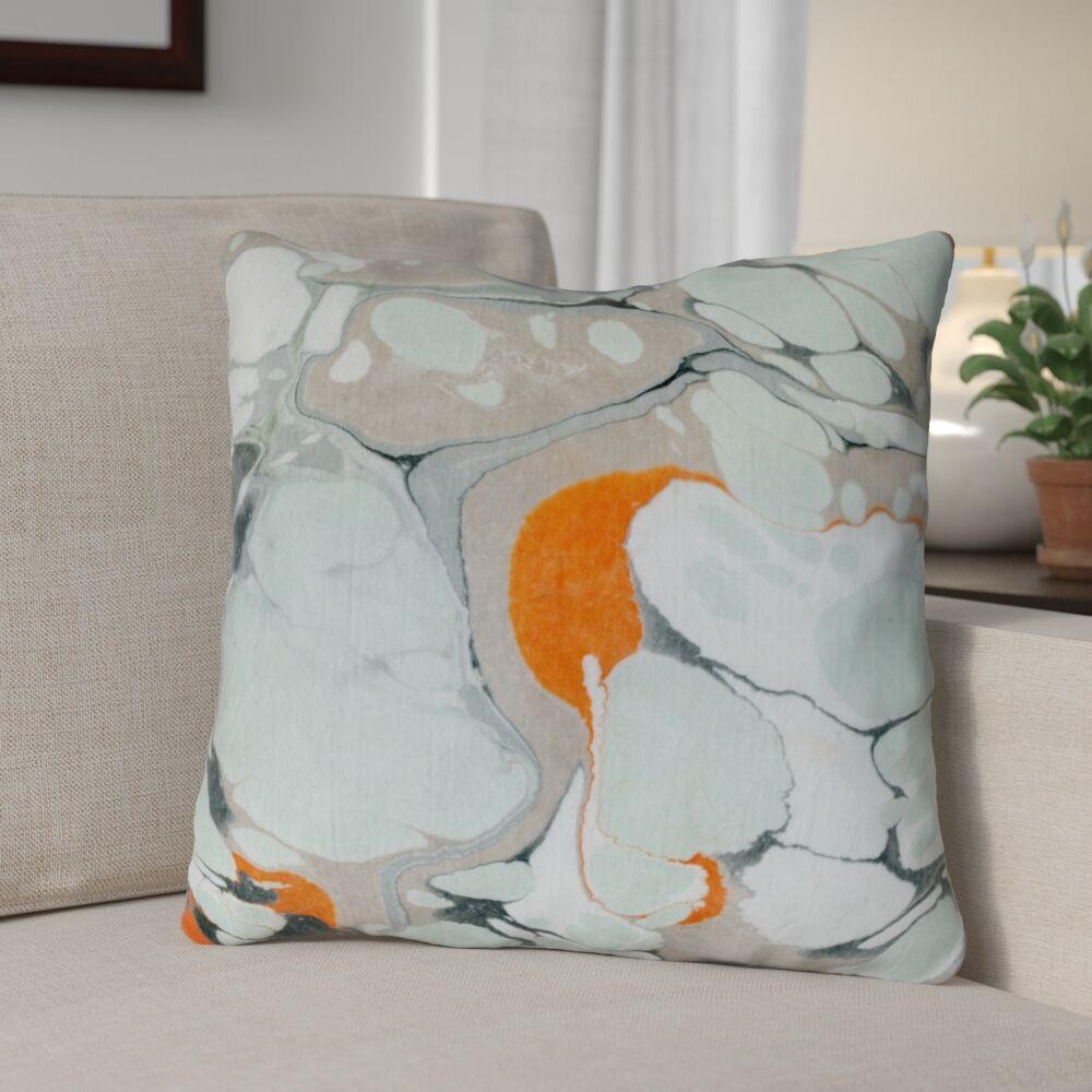 Castellon Marble Throw Pillow Location: Indoor/Outdoor