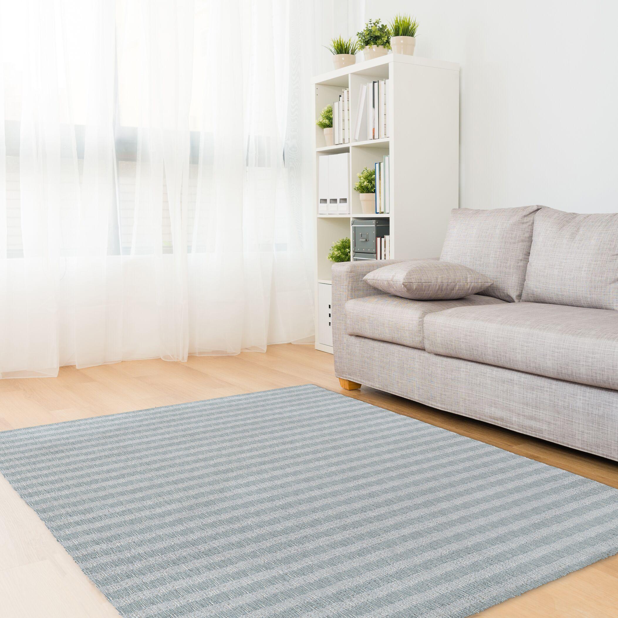 Heidelberg Blue/Teal Area Rug Rug Size: Rectangle 5' x 7'
