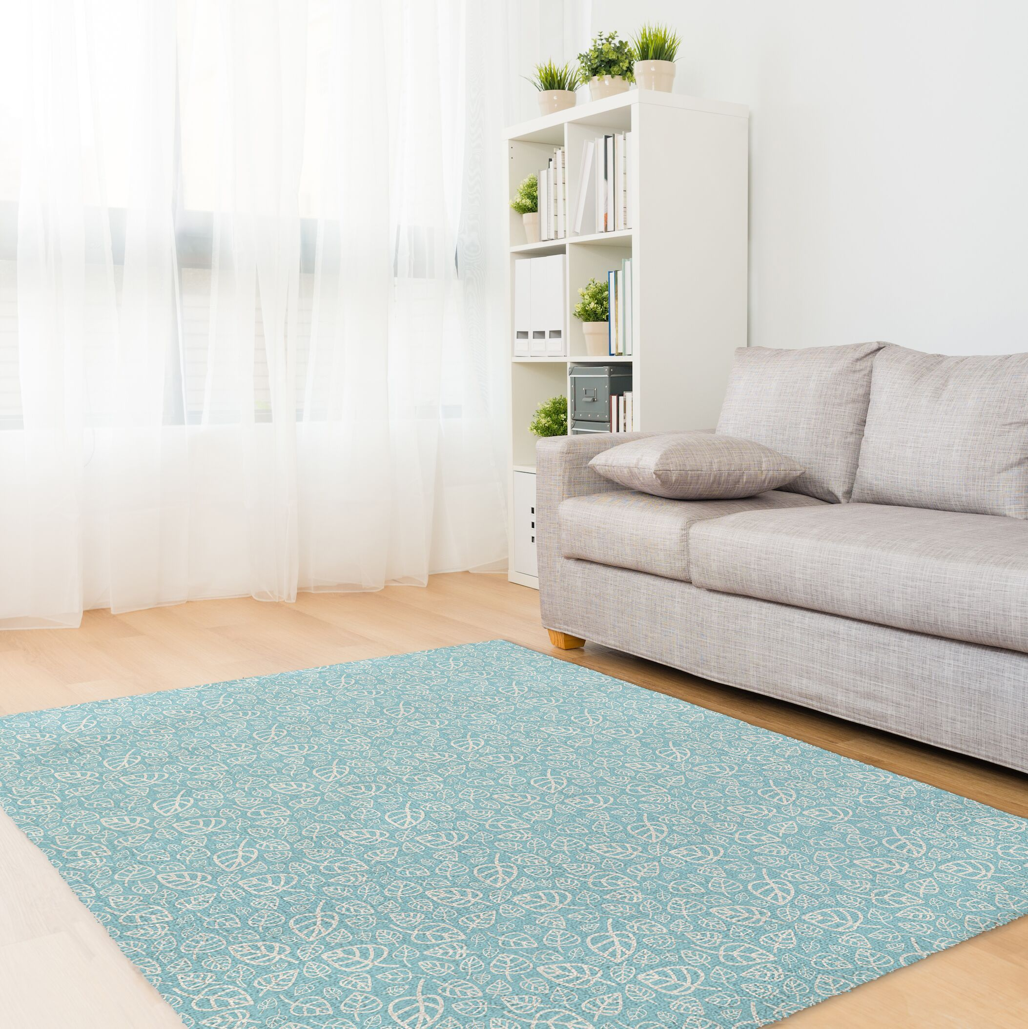 Decarlo Aqua Area Rug Rug Size: Rectangle 5' x 7'