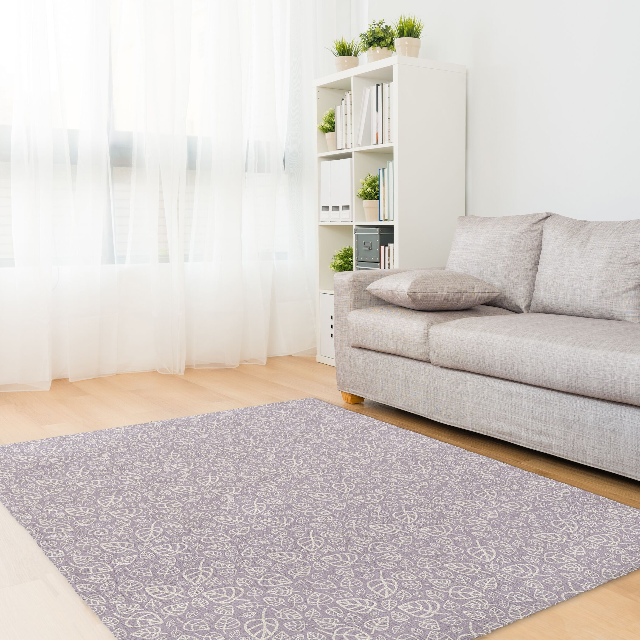 Decarlo Purple Area Rug Rug Size: Rectangle 5' x 7'