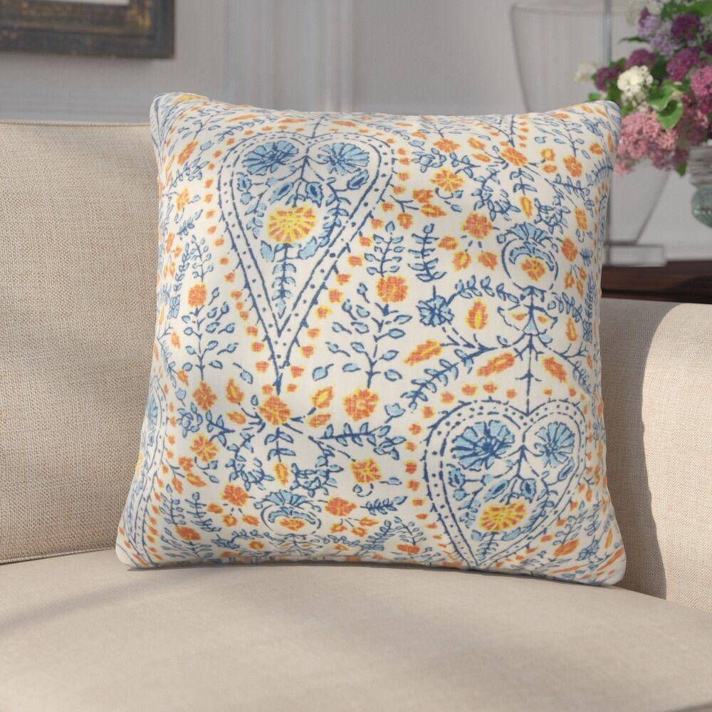 Zyra Down Filled 100% Cotton Throw Pillow Size: 24