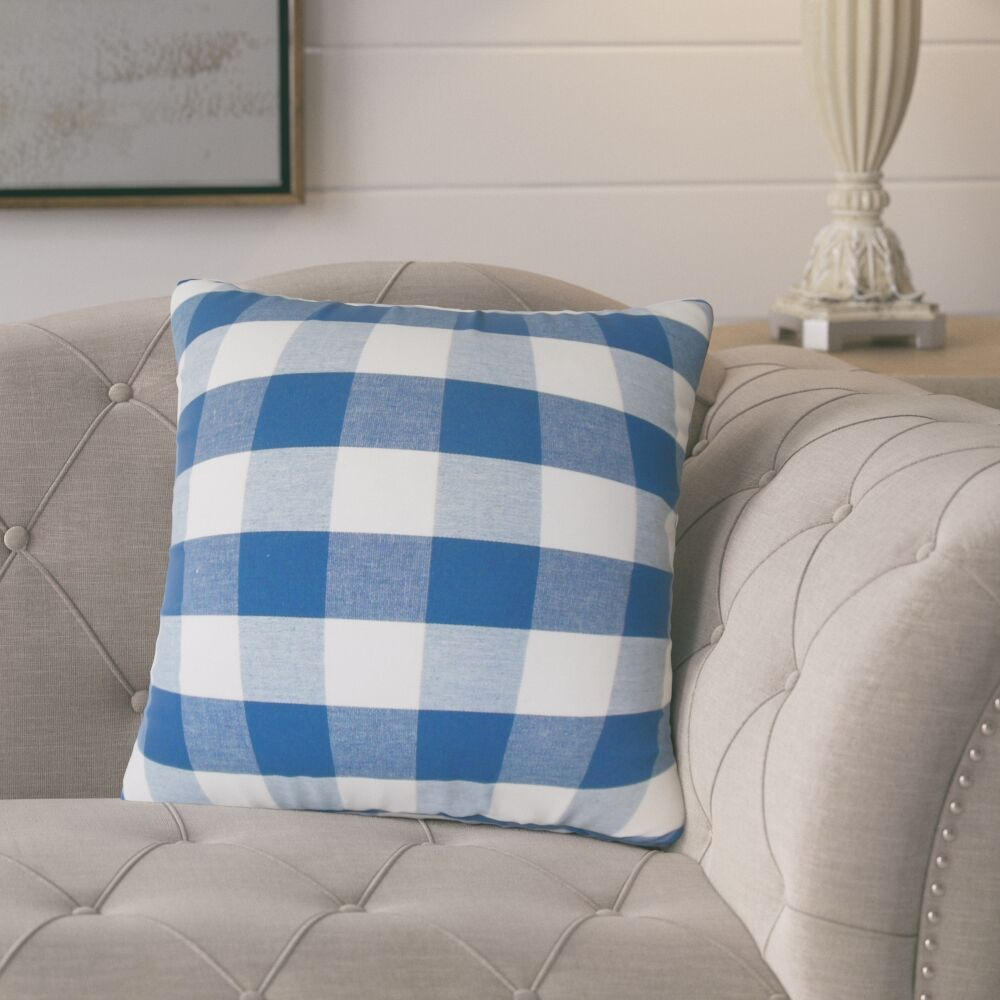 Lopes Plaid Down Filled 100% Cotton Throw Pillow Size: 24