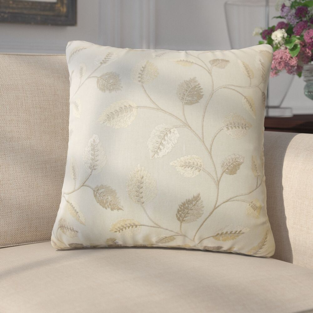 Storm Floral Down Filled 100% Cotton Throw Pillow Size: 24