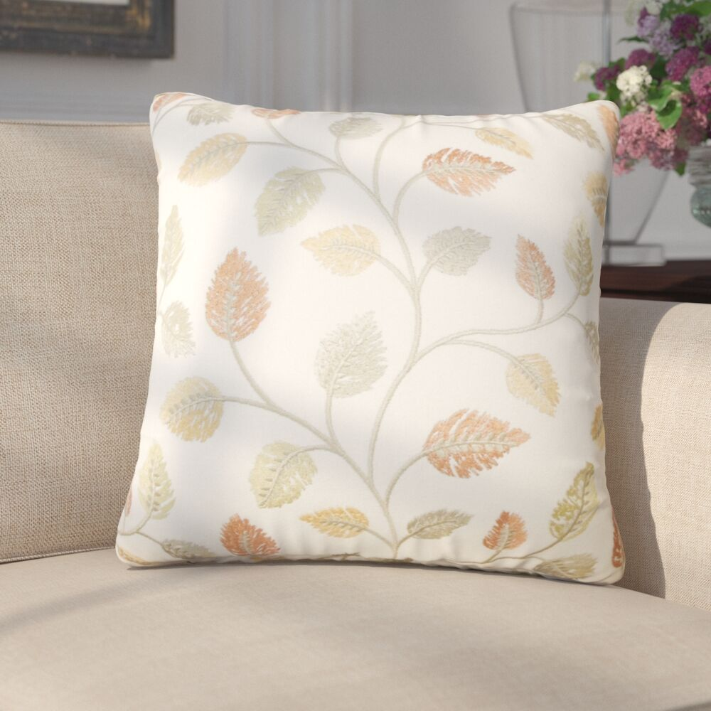 Storm Floral Down Filled 100% Cotton Throw Pillow Size: 22