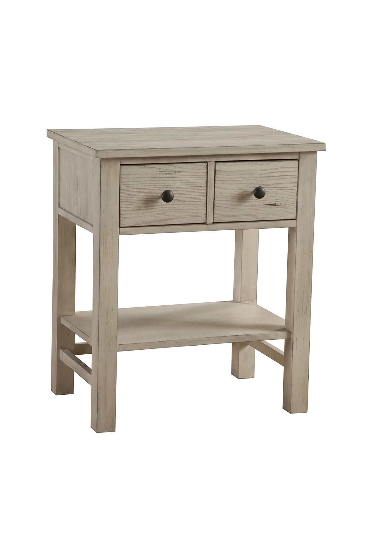 Burgundy 2 Drawer Nightstand Color: Distressed White