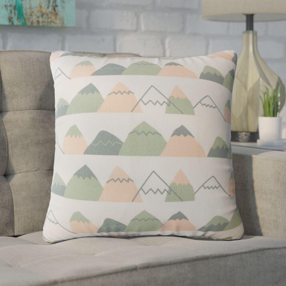 Wiggin Geometric Down Filled 100% Cotton Throw Pillow Size: 24