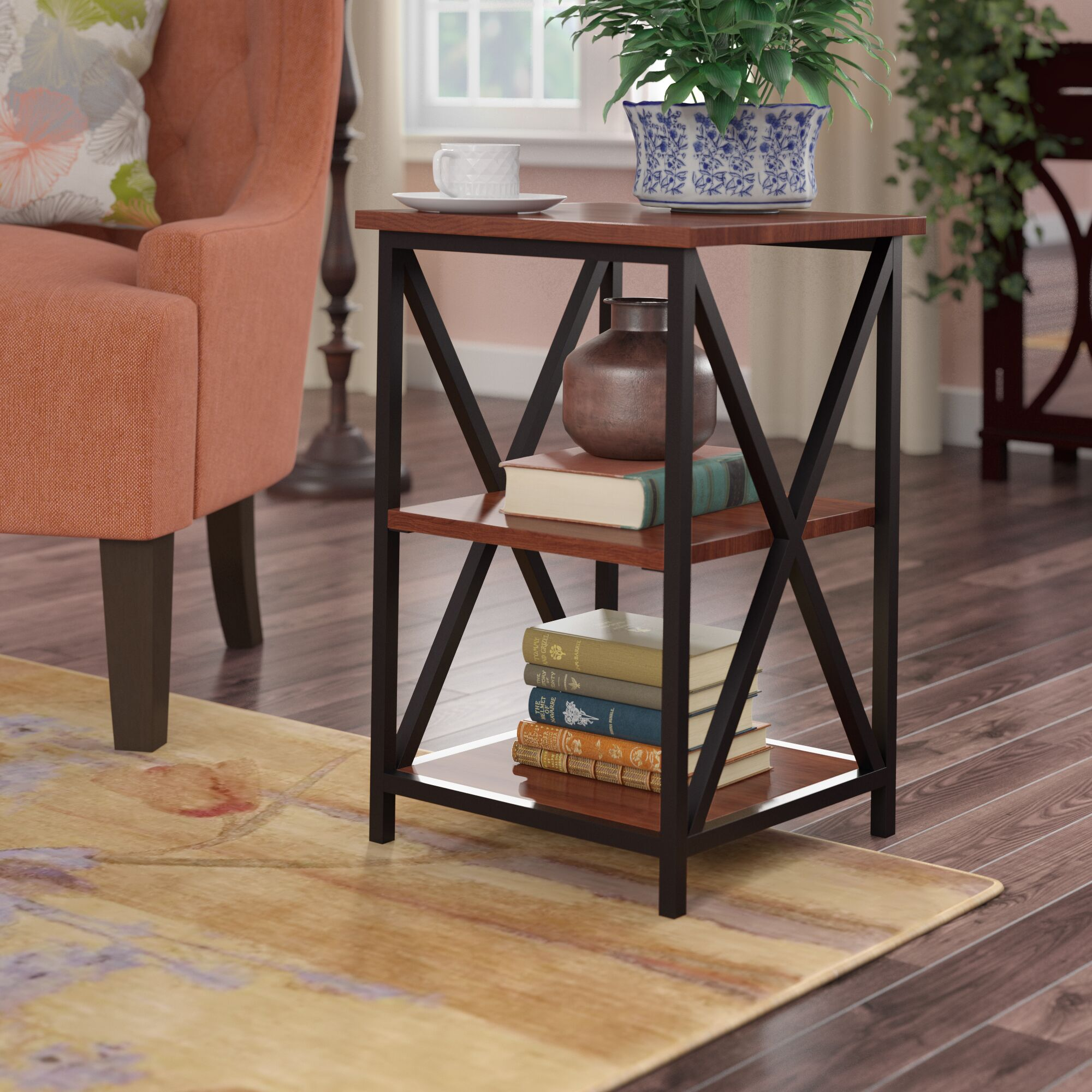 Creeksville End Table With Storage Color: Cherry