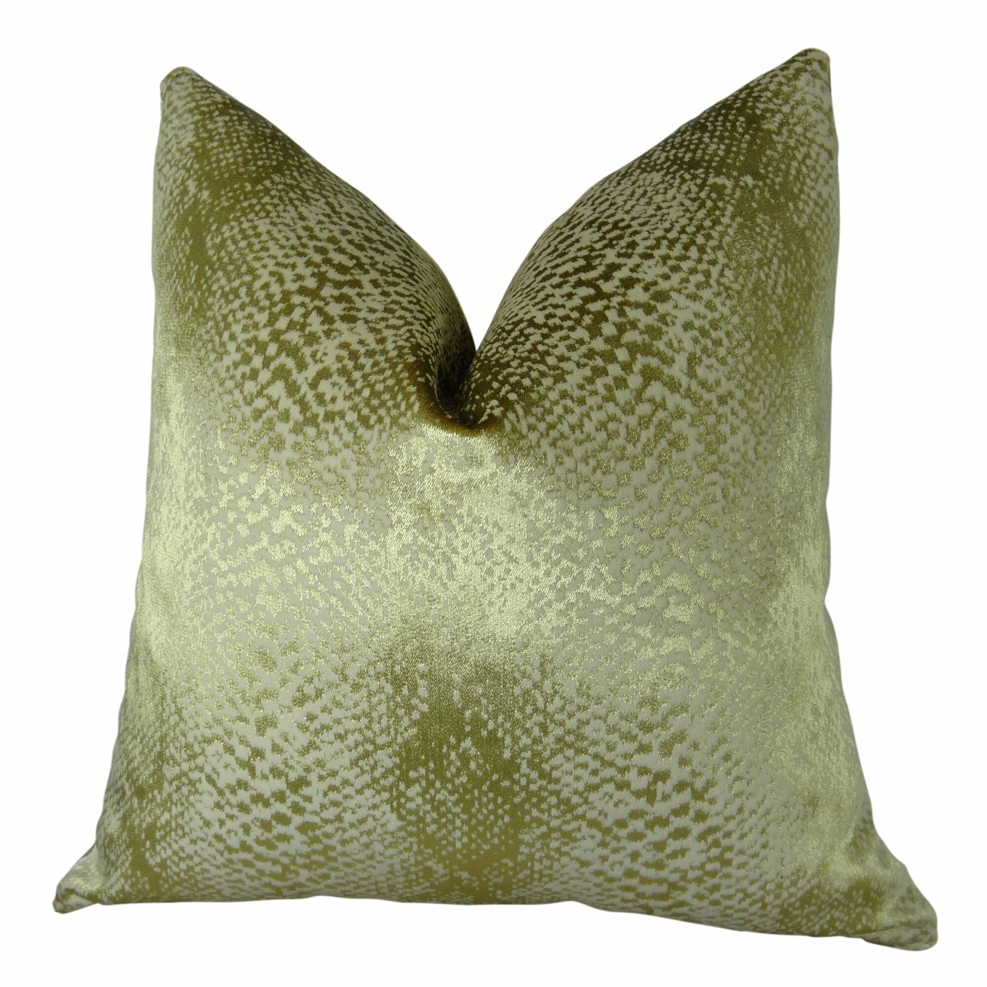 Franks Metallic Luxury Pillow Fill Material: Cover Only - No Insert, Size: 24