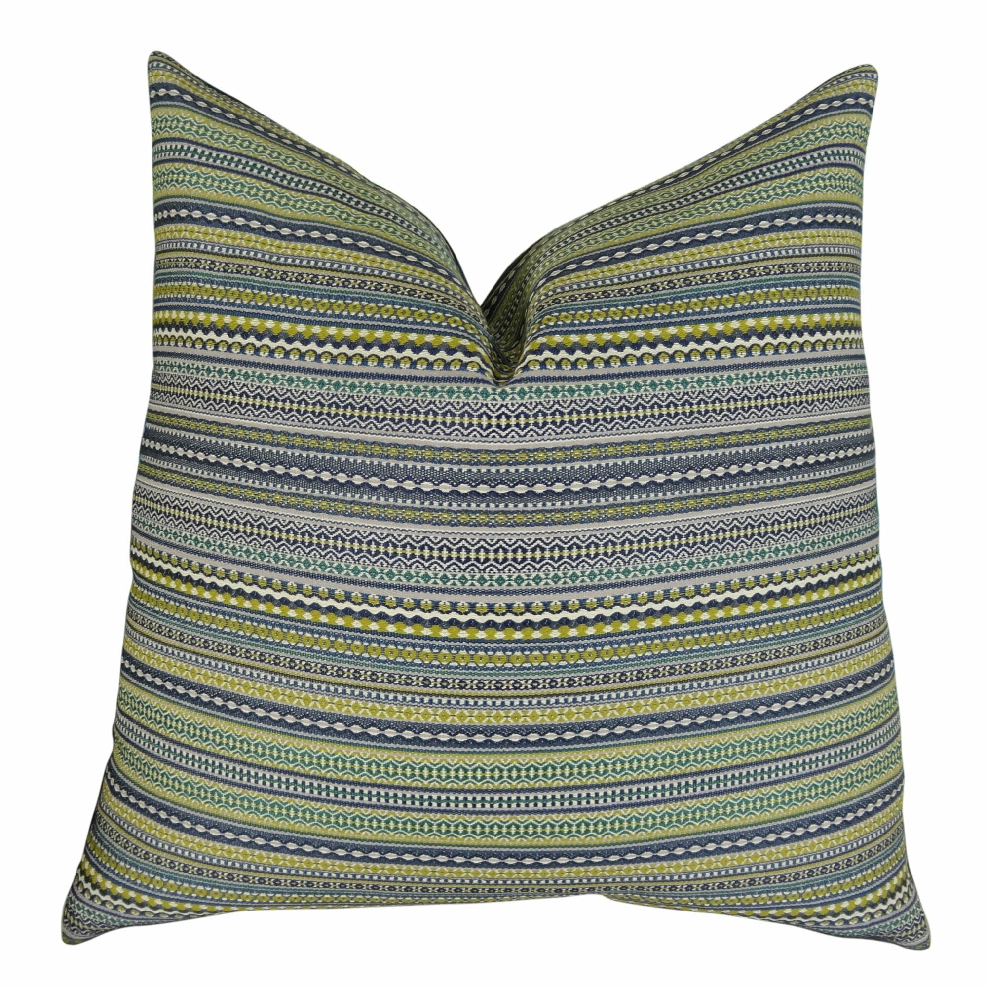 Lemuel Stripe Chartreuse Pillow Fill Material: 95/5 Feather/Down, Size: 20