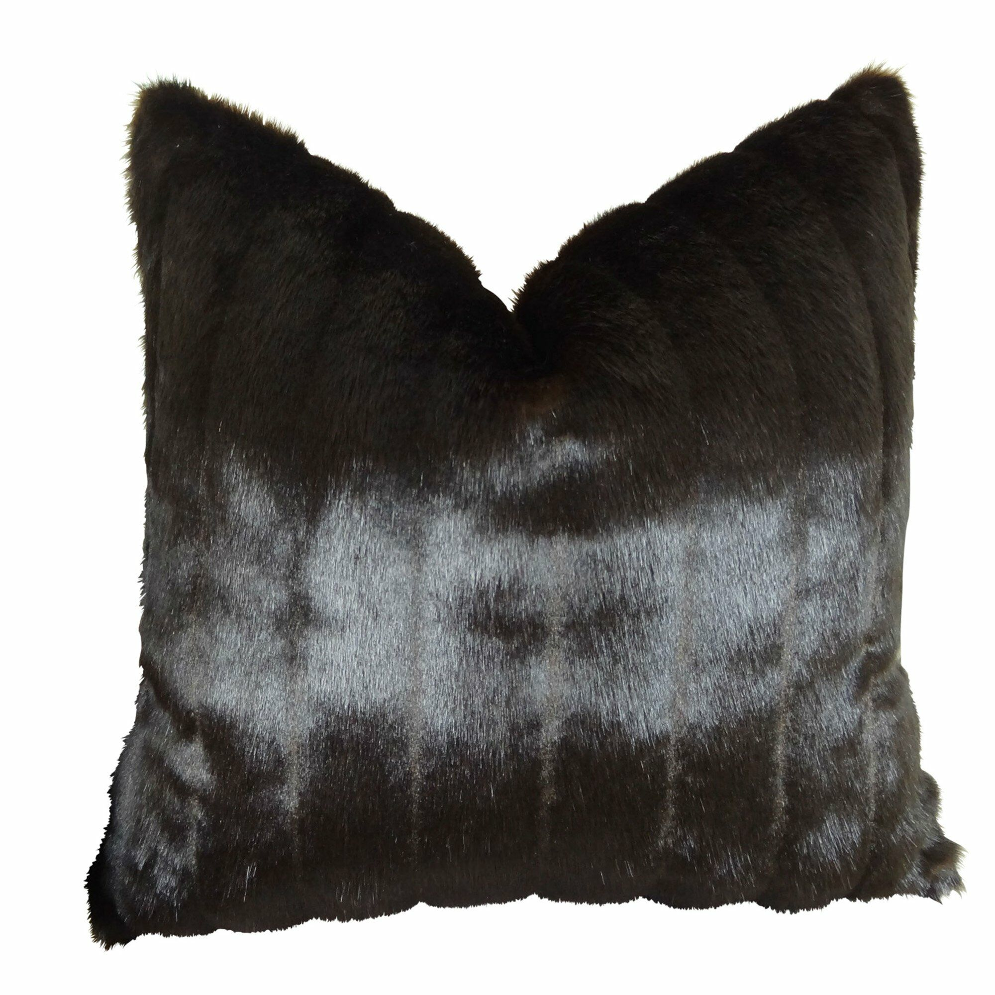 Jourdan Mink Faux Fur Pillow Fill Material: H-allrgnc Polyfill, Size: 20