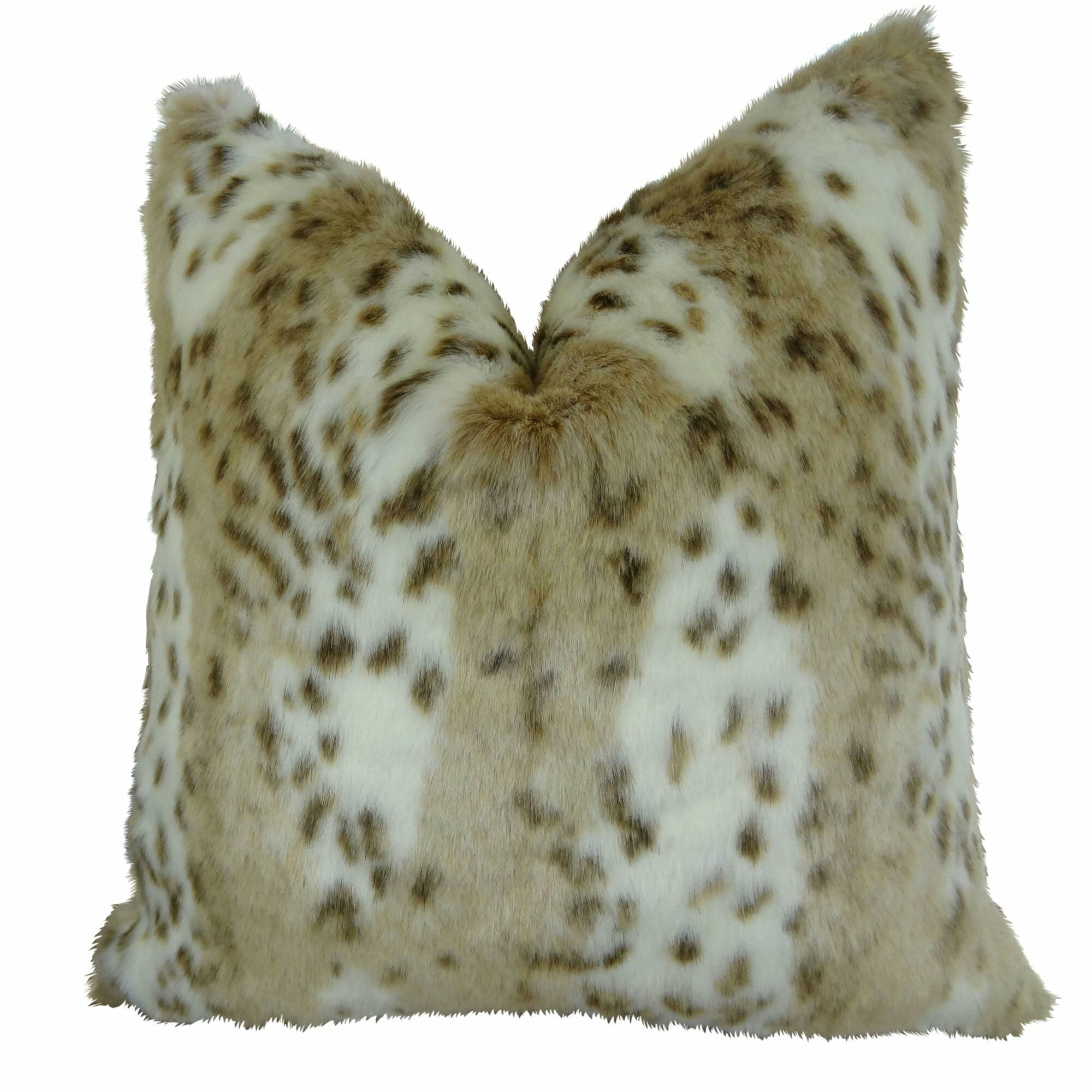 Phipps Leopard Faux Fur Pillow Size: 20