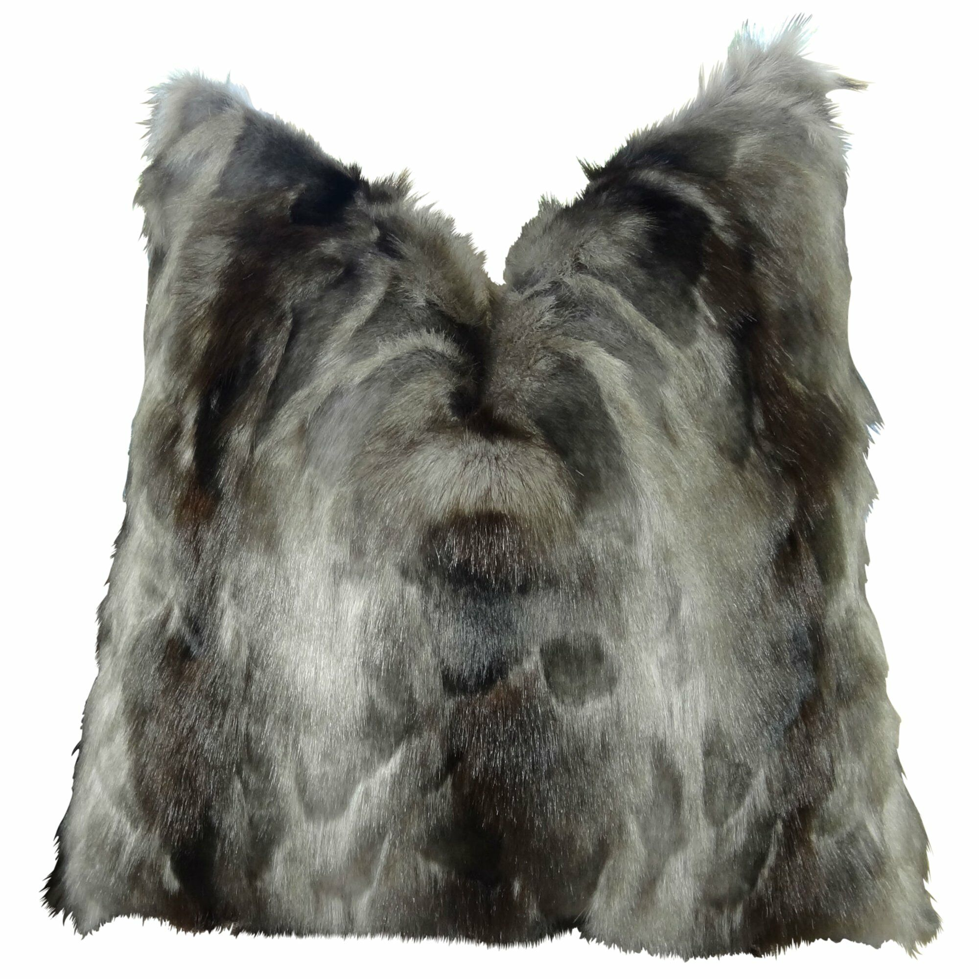 Wagenen Fox Faux Fur Pillow Fill Material: Cover Only - No Insert, Size: 16