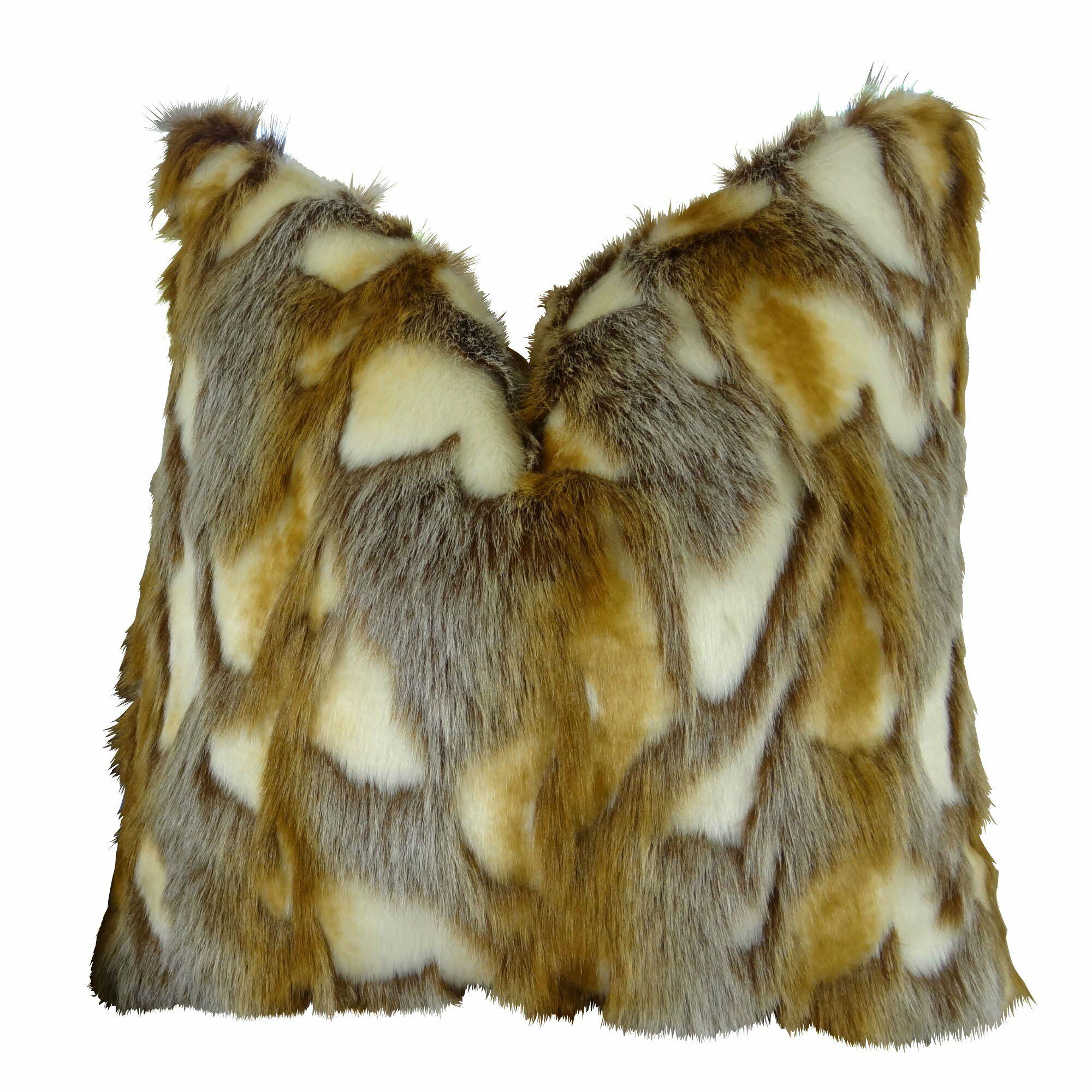 Wadlington Luxury Rabbit Faux Fur Pillow Size: 20