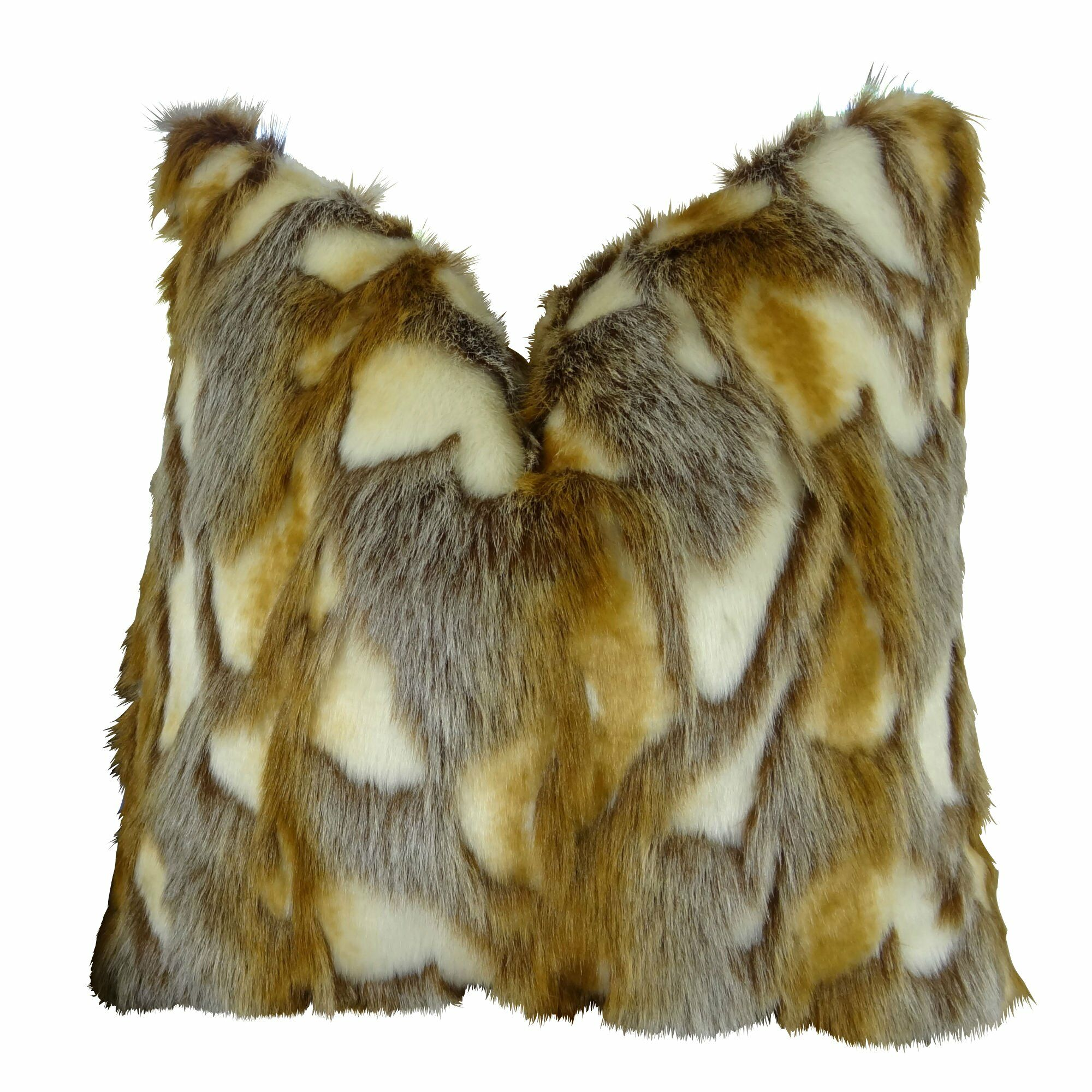 Wadlington Luxury Rabbit Faux Fur Pillow Fill Material: H-allrgnc Polyfill, Size: 16