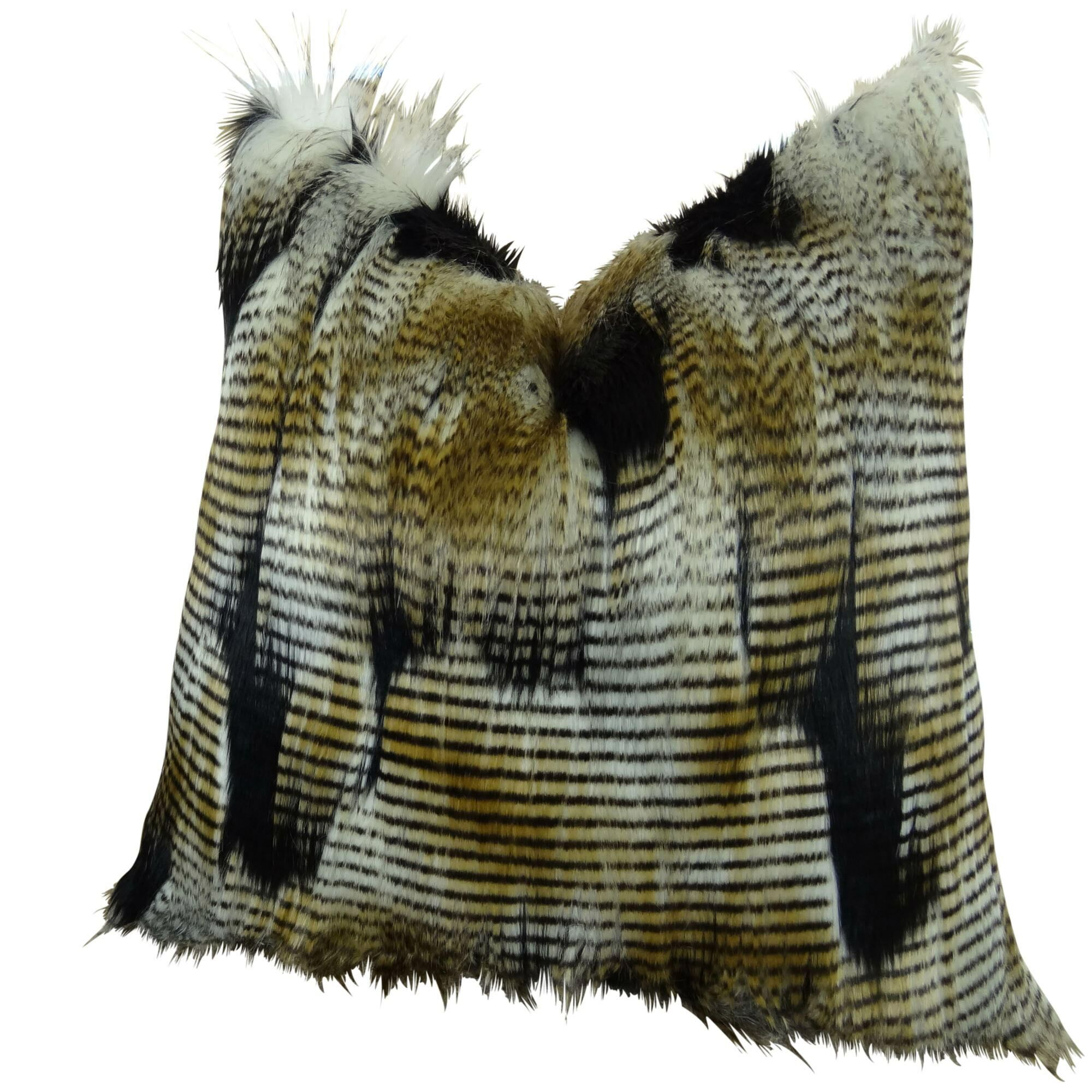 Monterey Faux Fur Pillow Size: 20