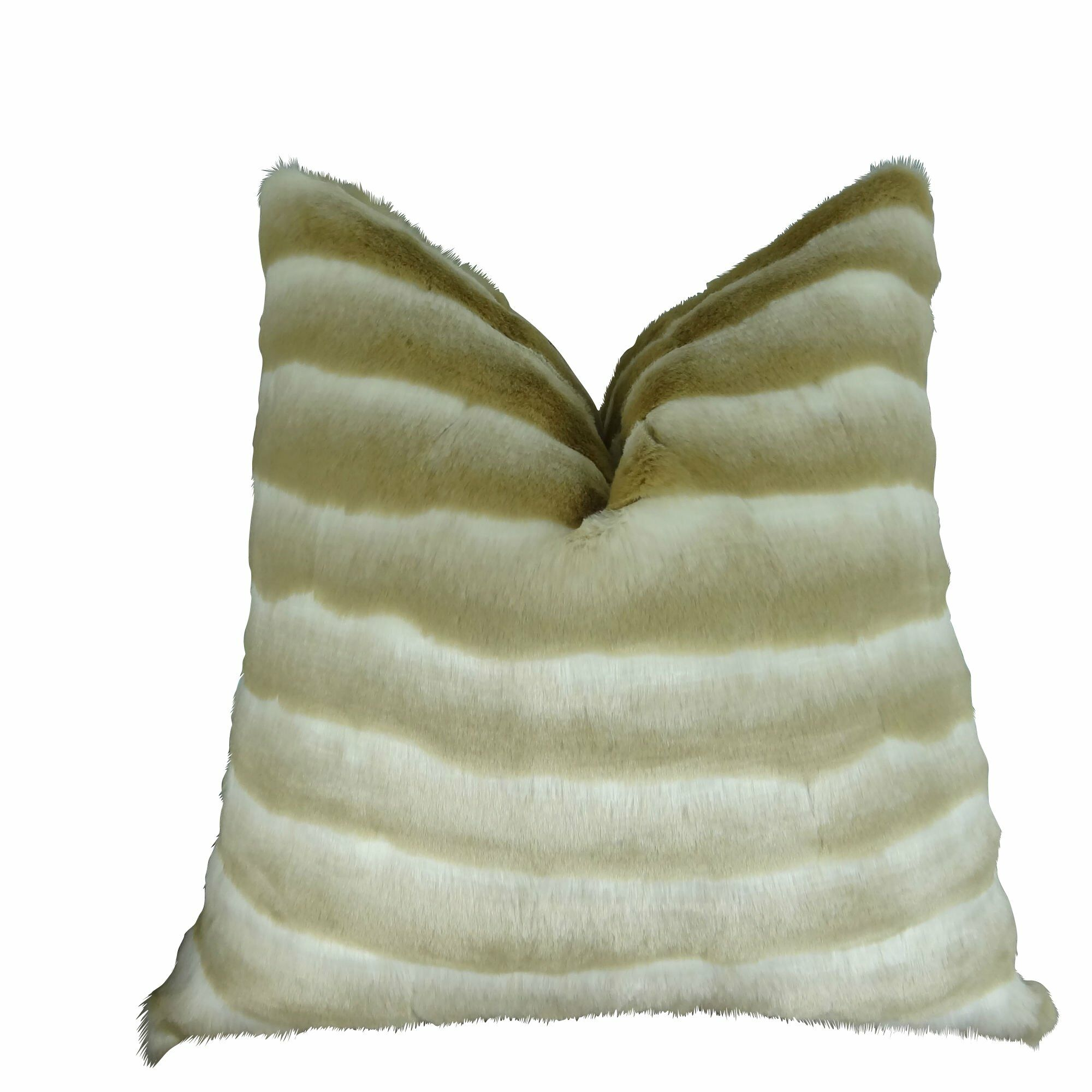 Jozwiak Wild Chinchilla Faux Fur Pillow Size: 24