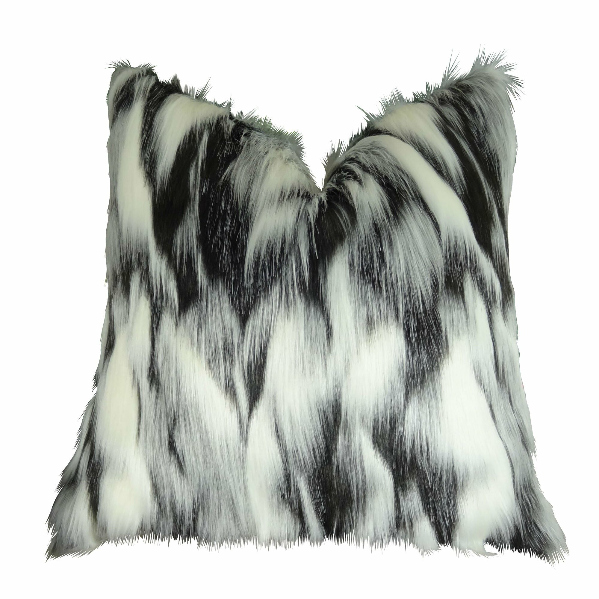Juan Fox Faux Fur Pillow Size: 26