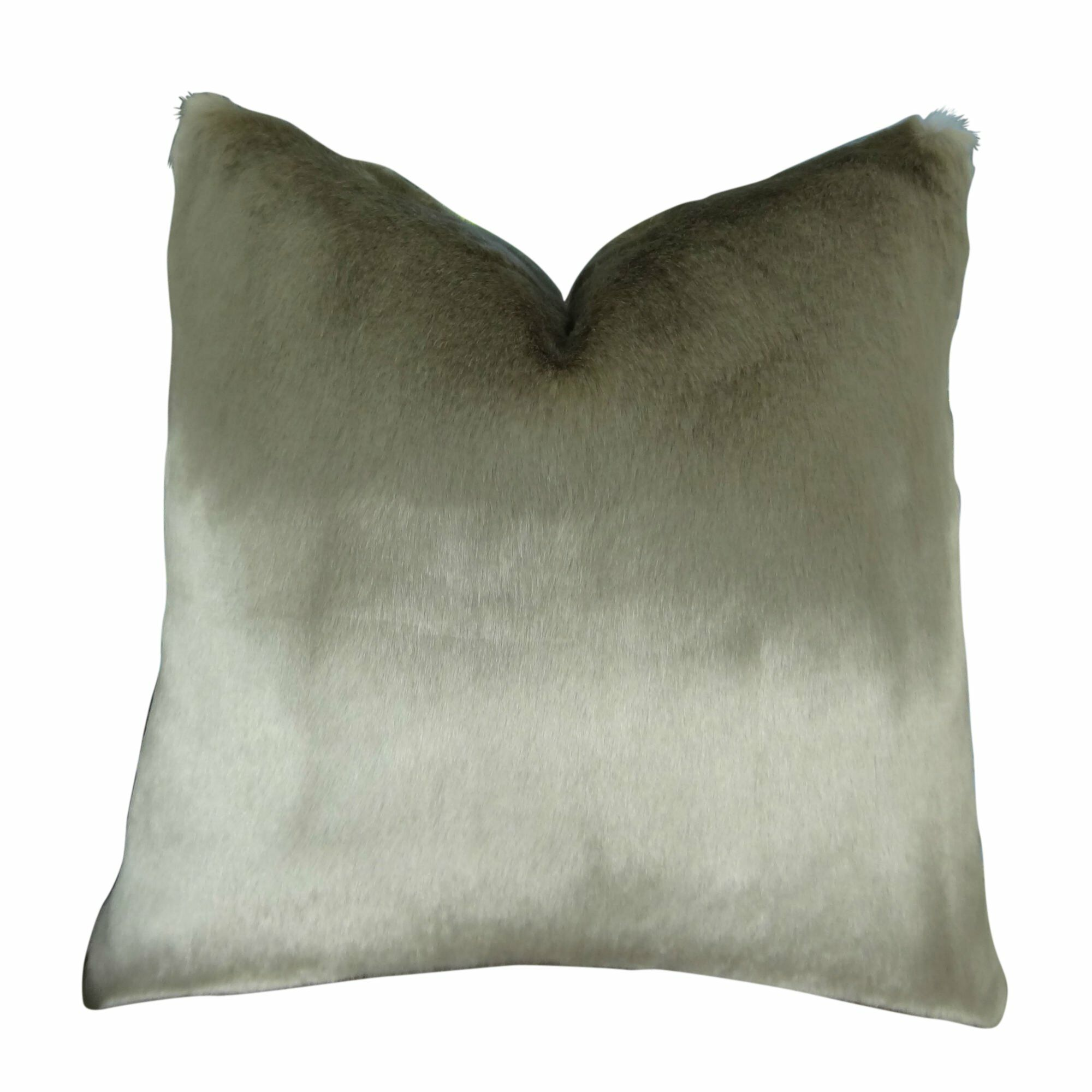 Juarez Luxury Tissavel Gunmetal Faux Fur Pillow Size: 20