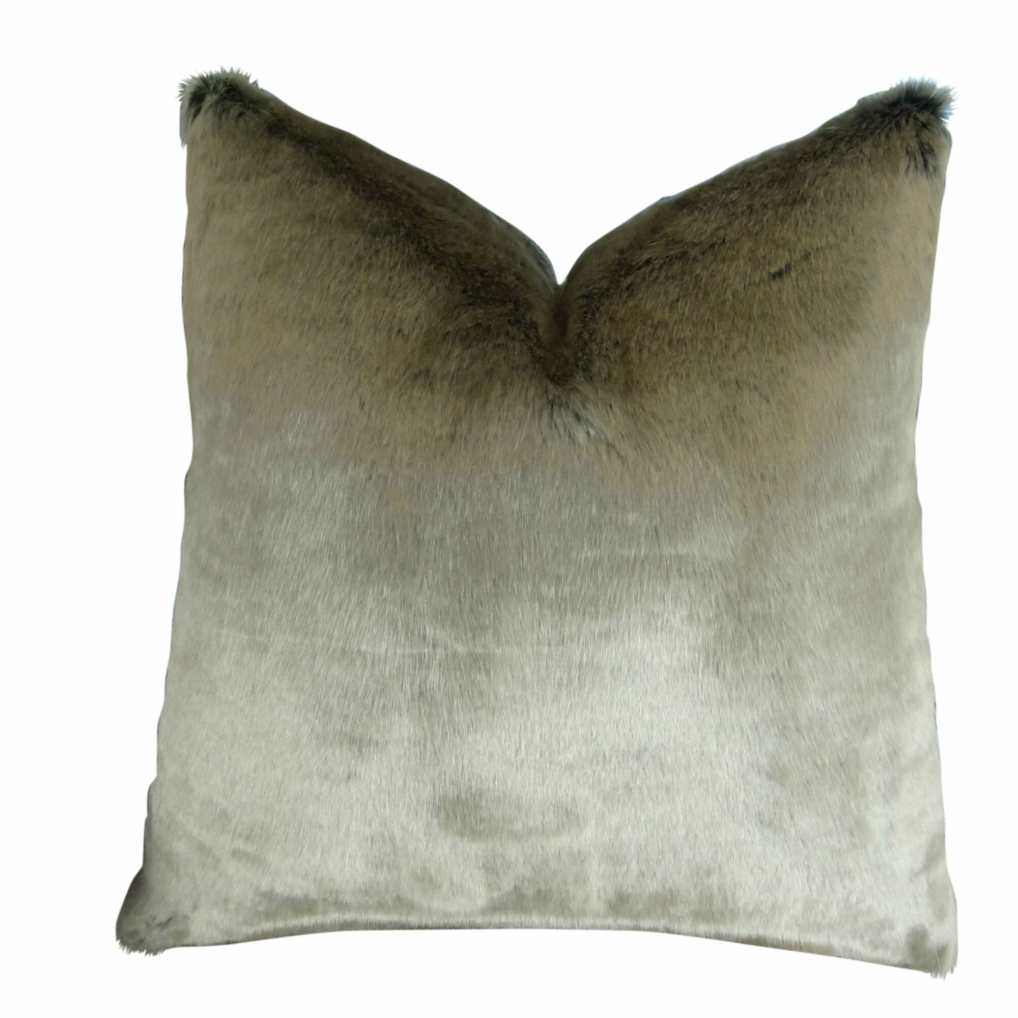 Juarez Luxury Tissavel 2 Tone Faux Fur Pillow Size: 22