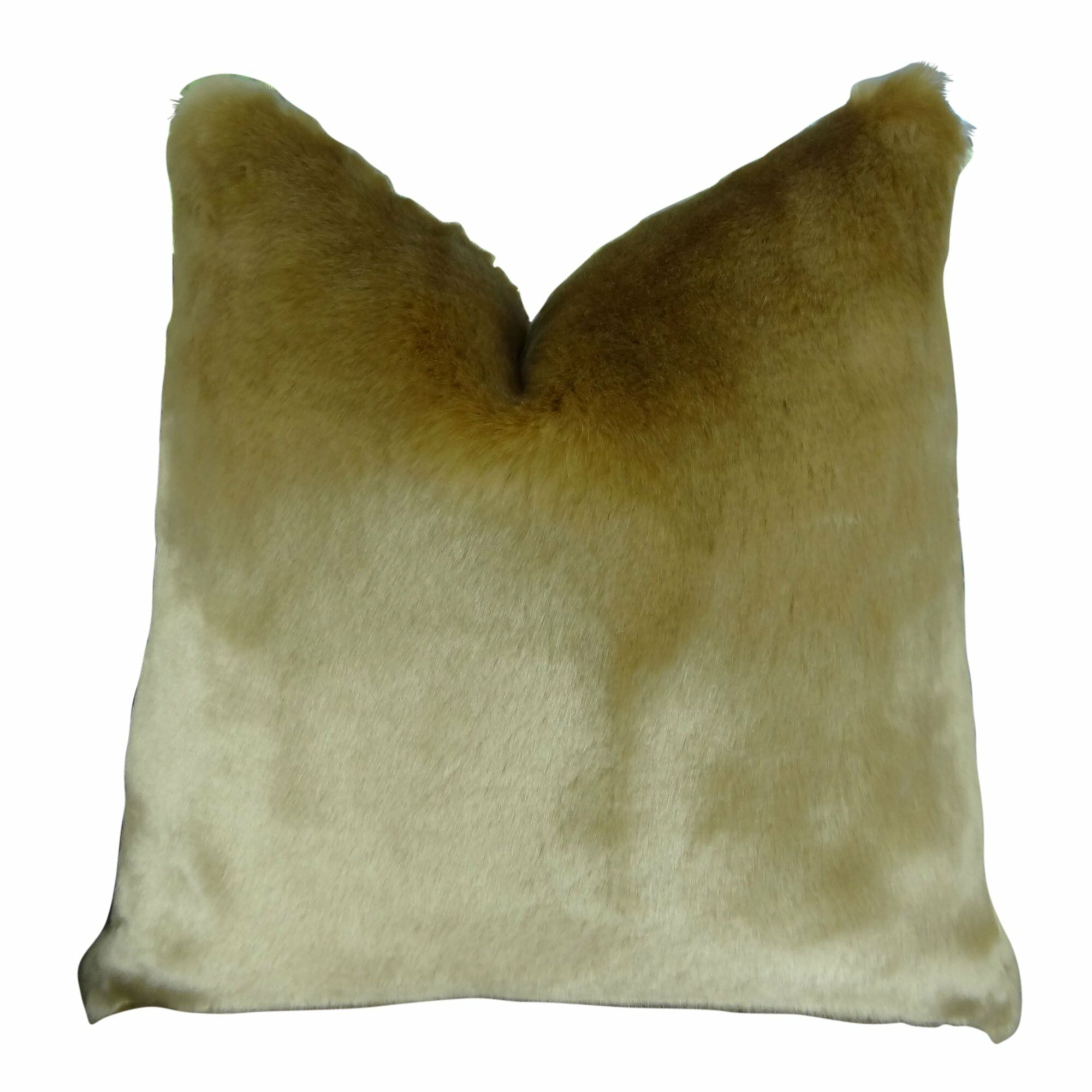Juarez Luxury Tissavel Faux Fur Pillow Fill Material: Cover Only - No Insert, Size: 20